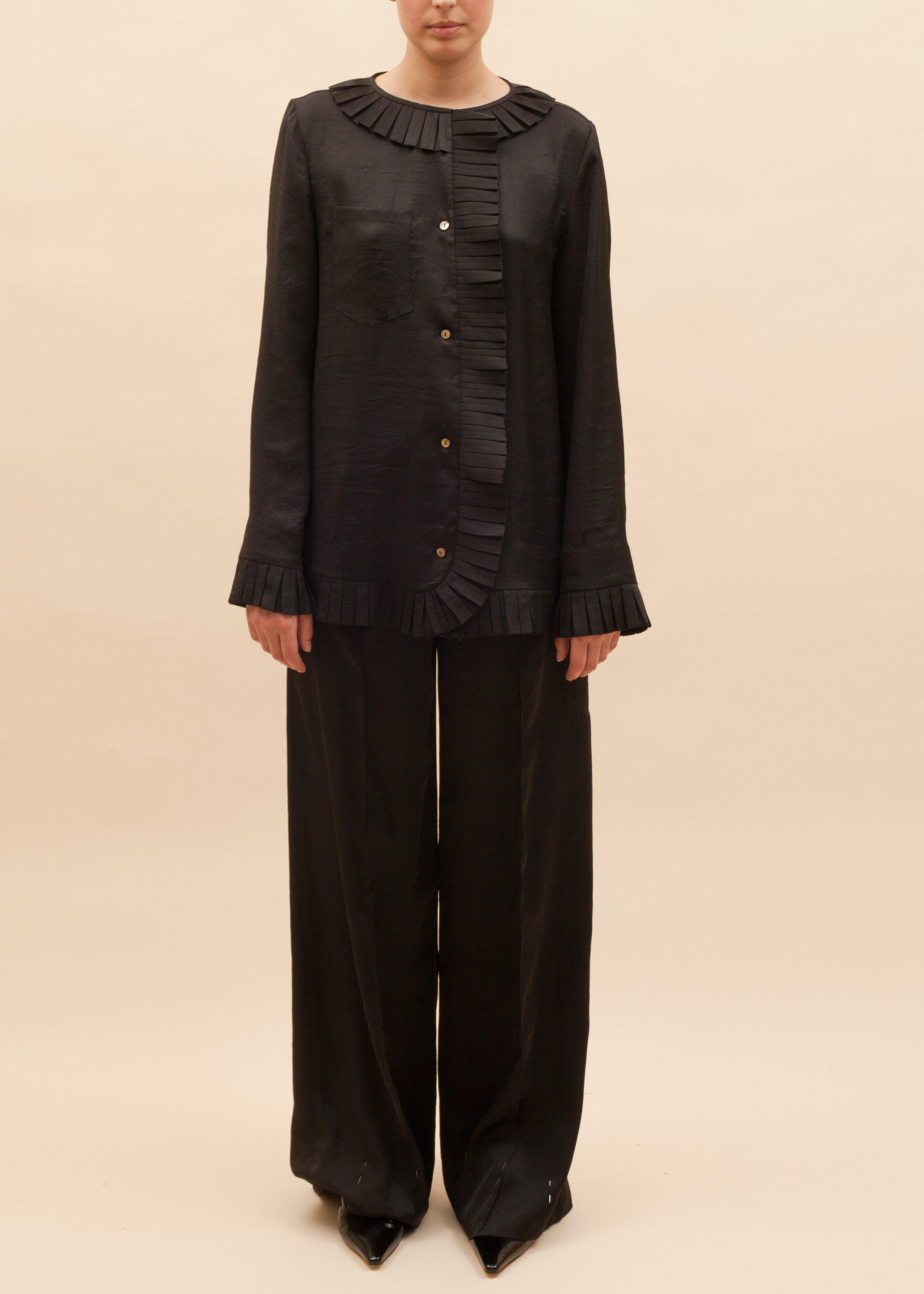Eve Trousers Satin Black - SPECIAL PRICE