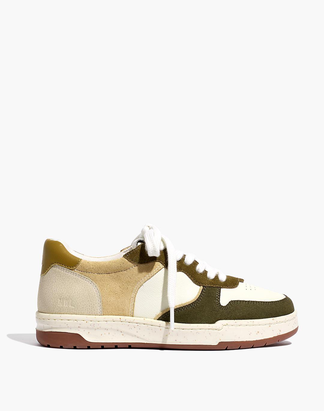 Court Sneakers in Colorblock Leather and Suede 1