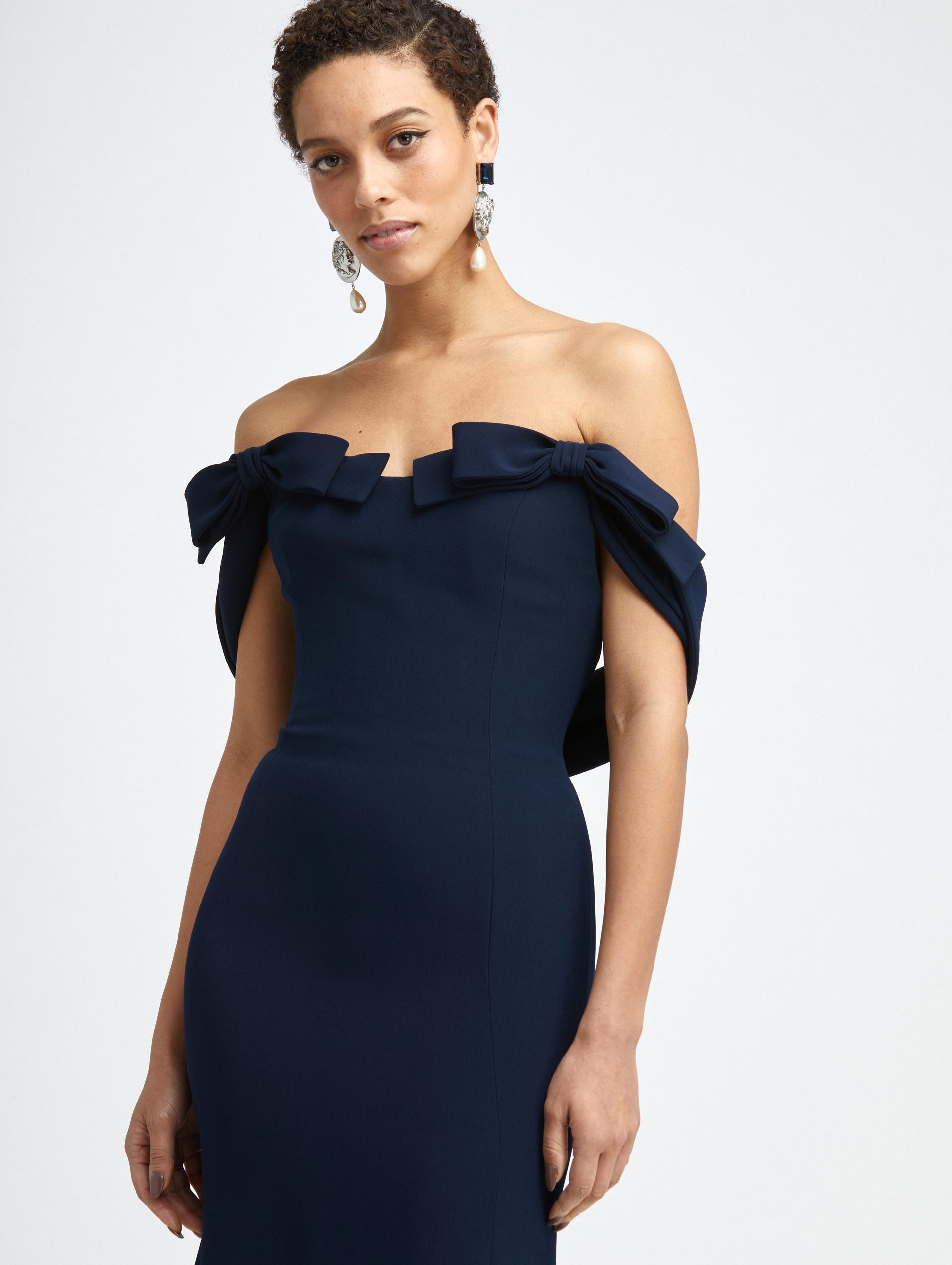 CADY OFF SHOULDER BOW GOWN 2