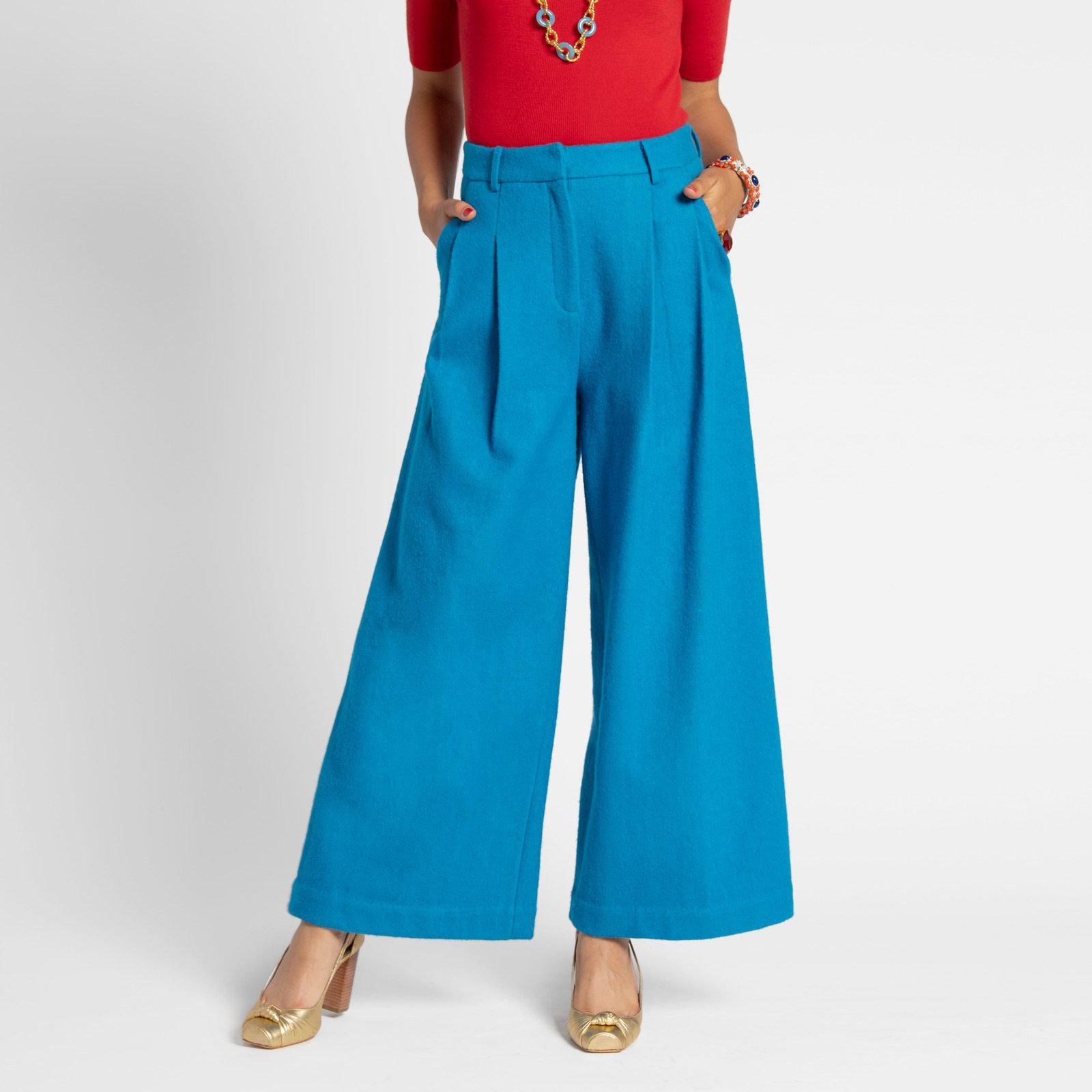 Bossy Pant Wool Turquoise
