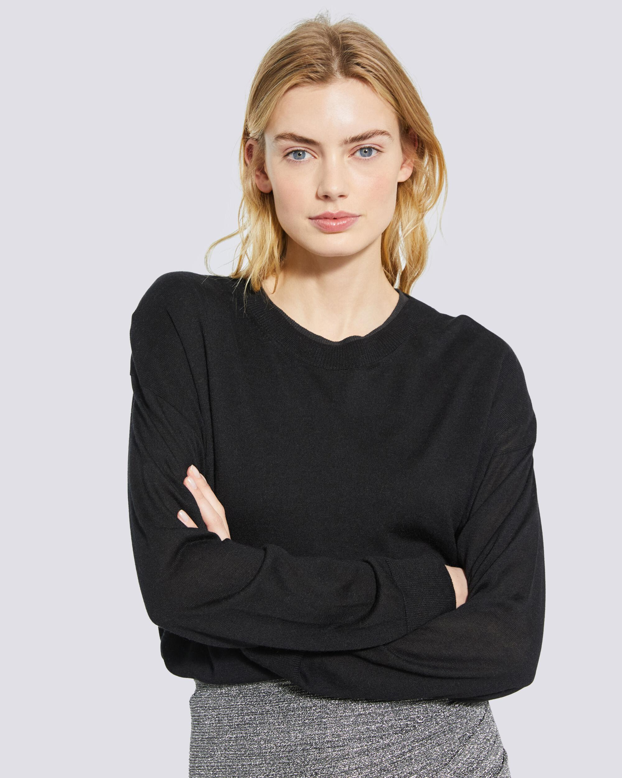 DUFFY RELAXED CREW NECK SWEATER