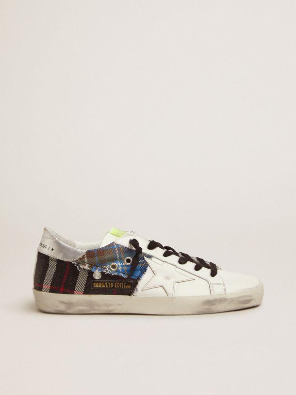 Women's Limited Edition LAB white Super-Star sneakers with tartan insert