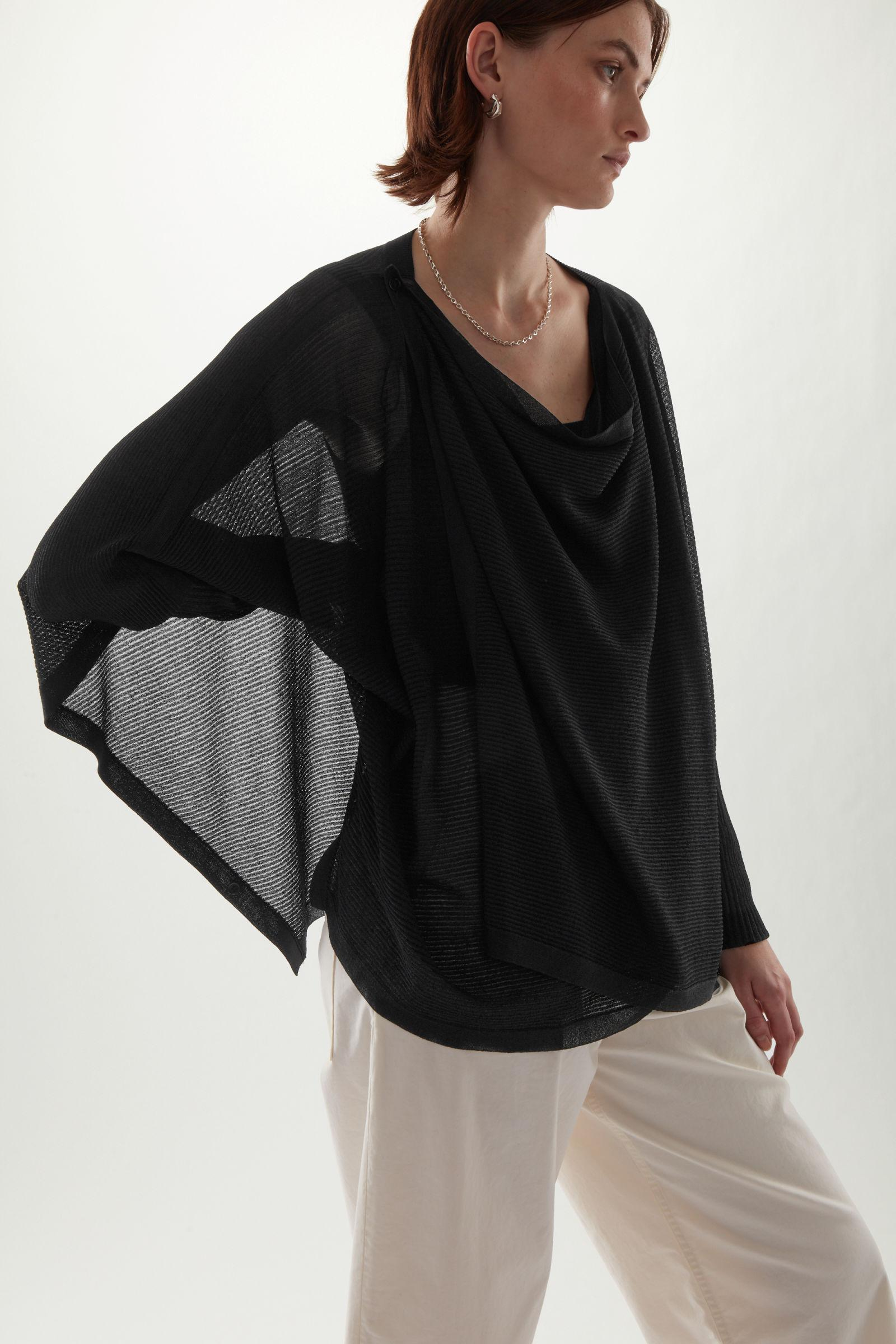 DRAPED KNITTED CARDIGAN