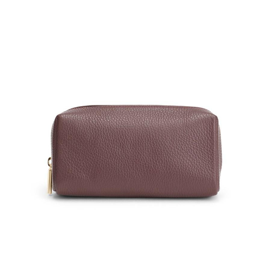 Women's Tech Case in Burgundy | Pebbled Leather by Cuyana