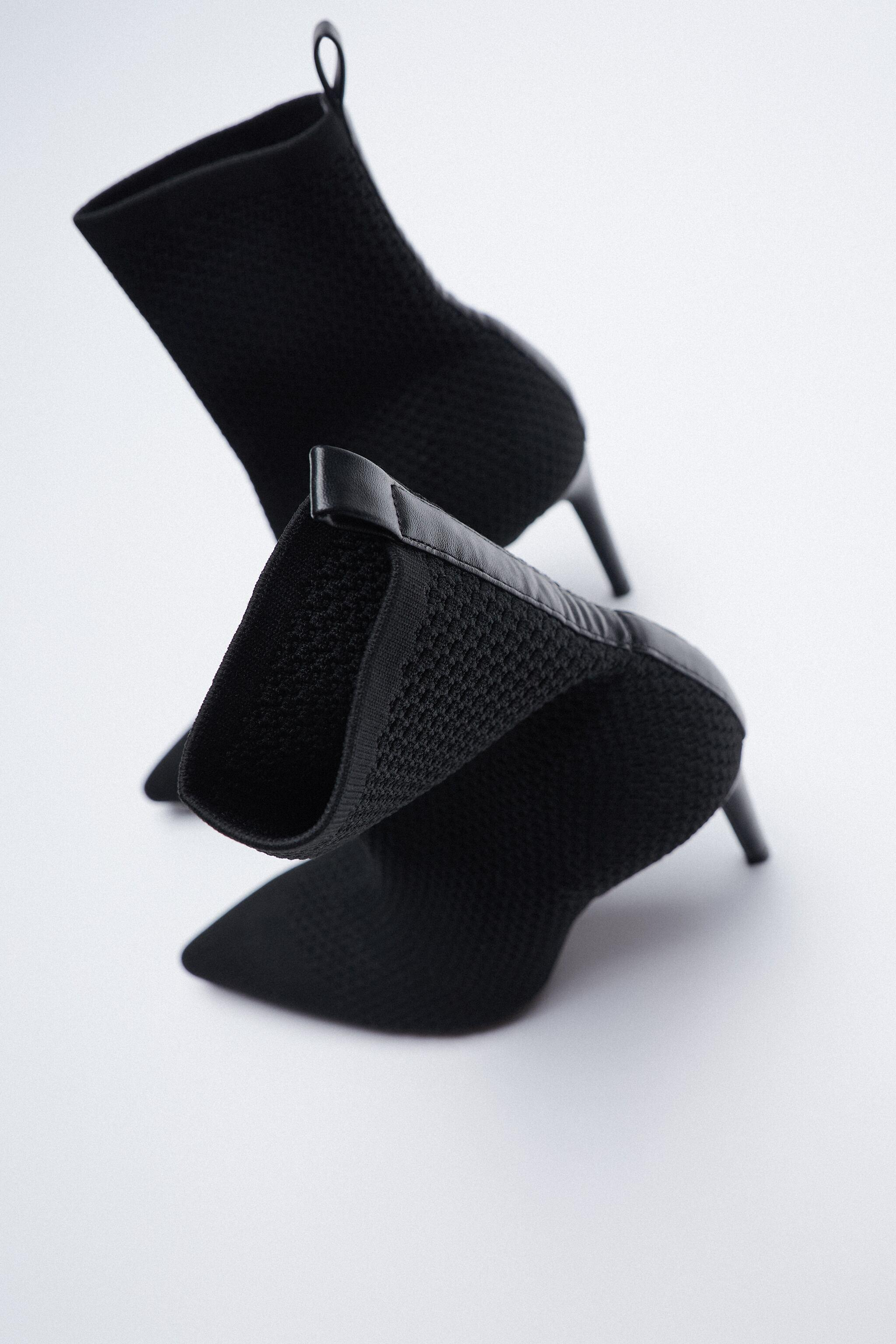 FABRIC HEELED ANKLE BOOTS 4