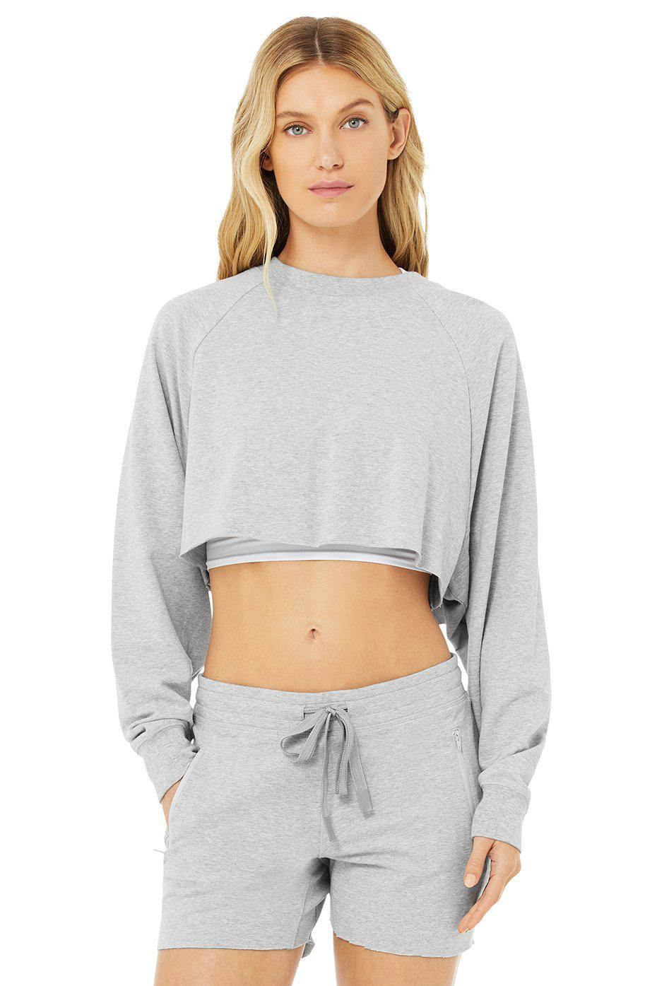 Double Take Pullover - Dove Grey Heather