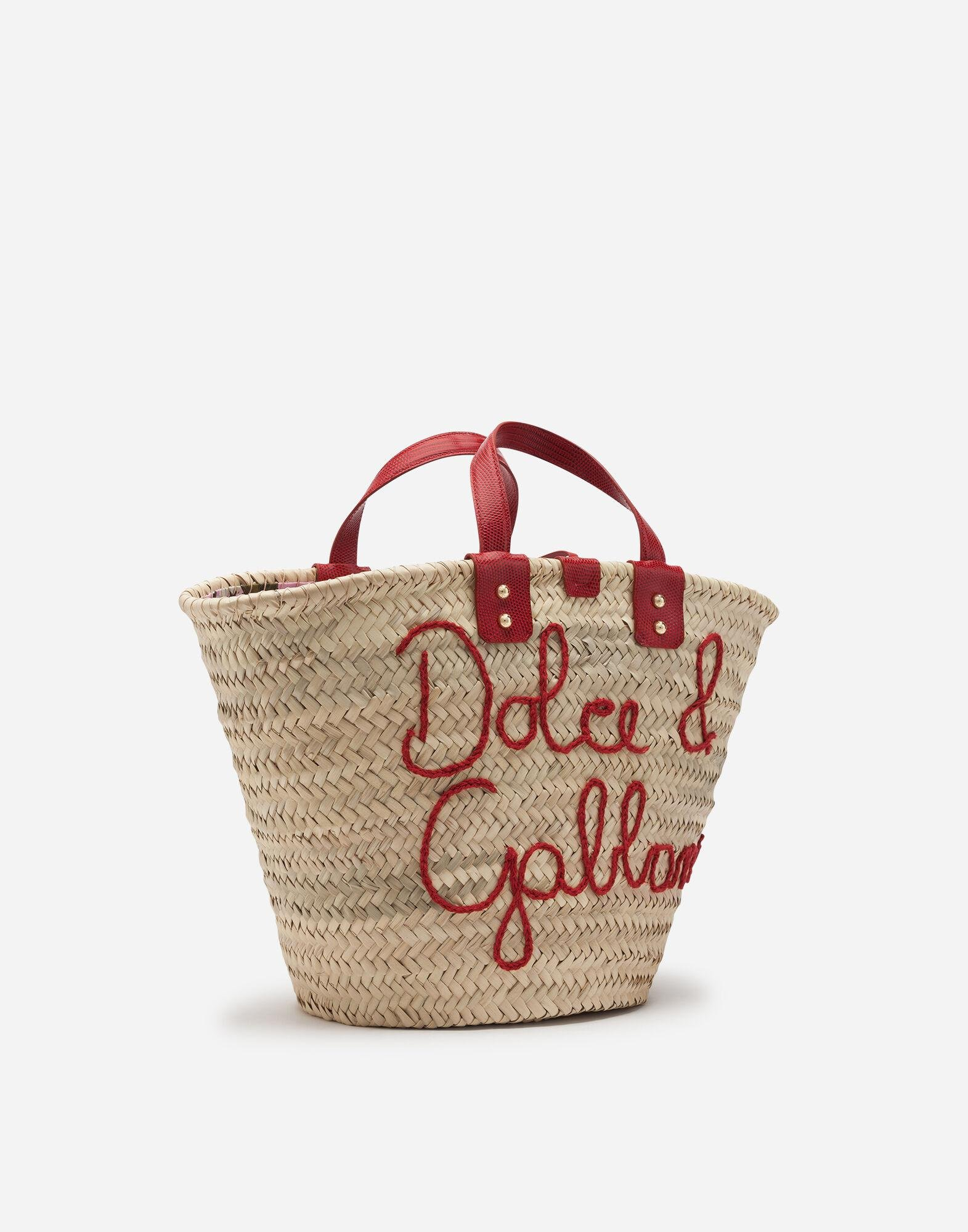 Kendra coffa bag in straw with thread embroidery 1