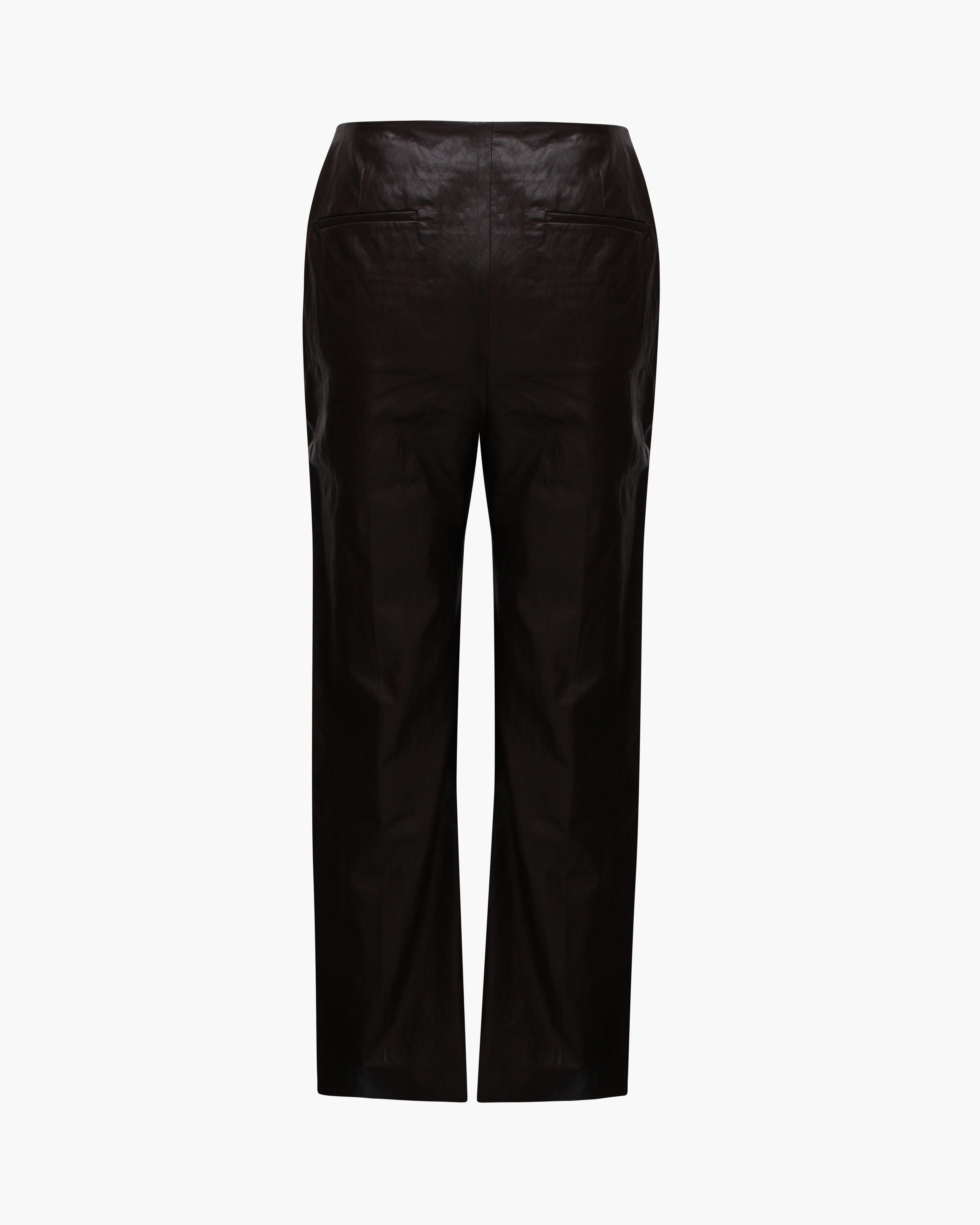 Lexi Trousers Faux Leather Brown 2
