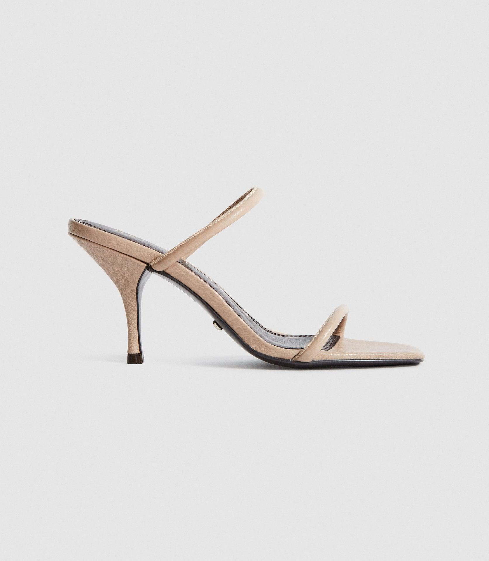 MAGDA - LEATHER STRAPPY HEELED SANDALS
