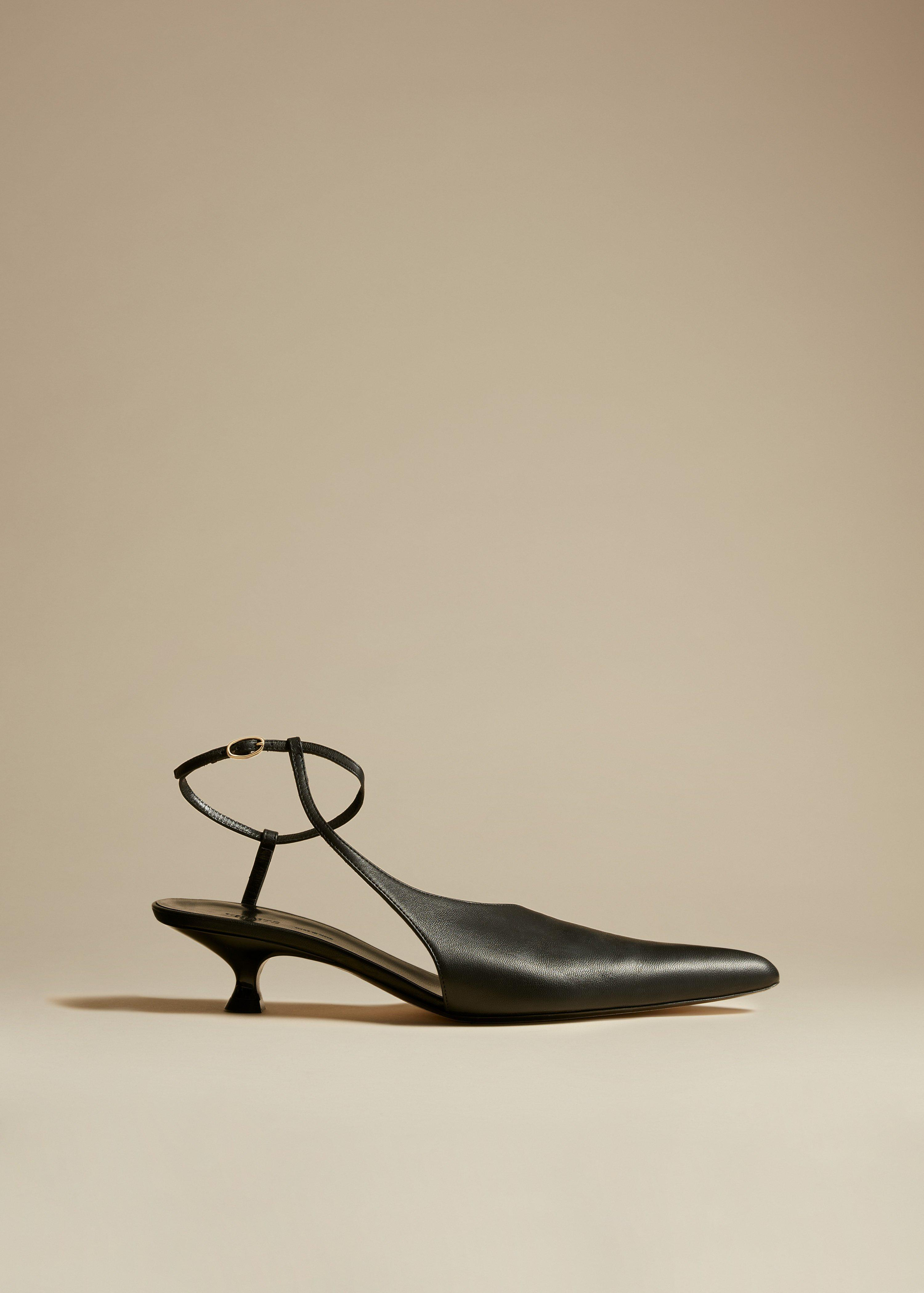 The Seville Pump in Black Leather