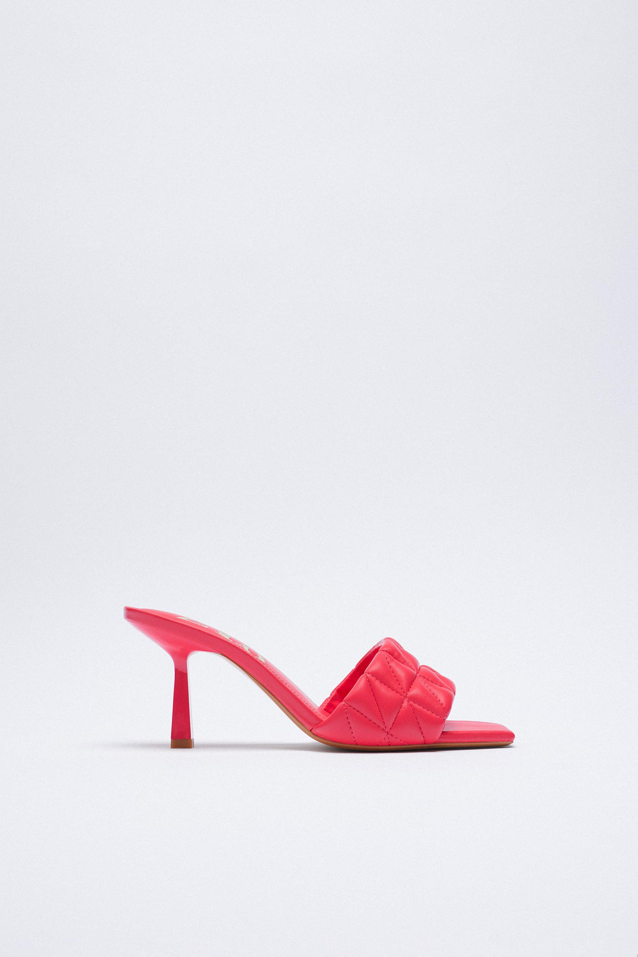 HEELED QUILTED SANDALS 2