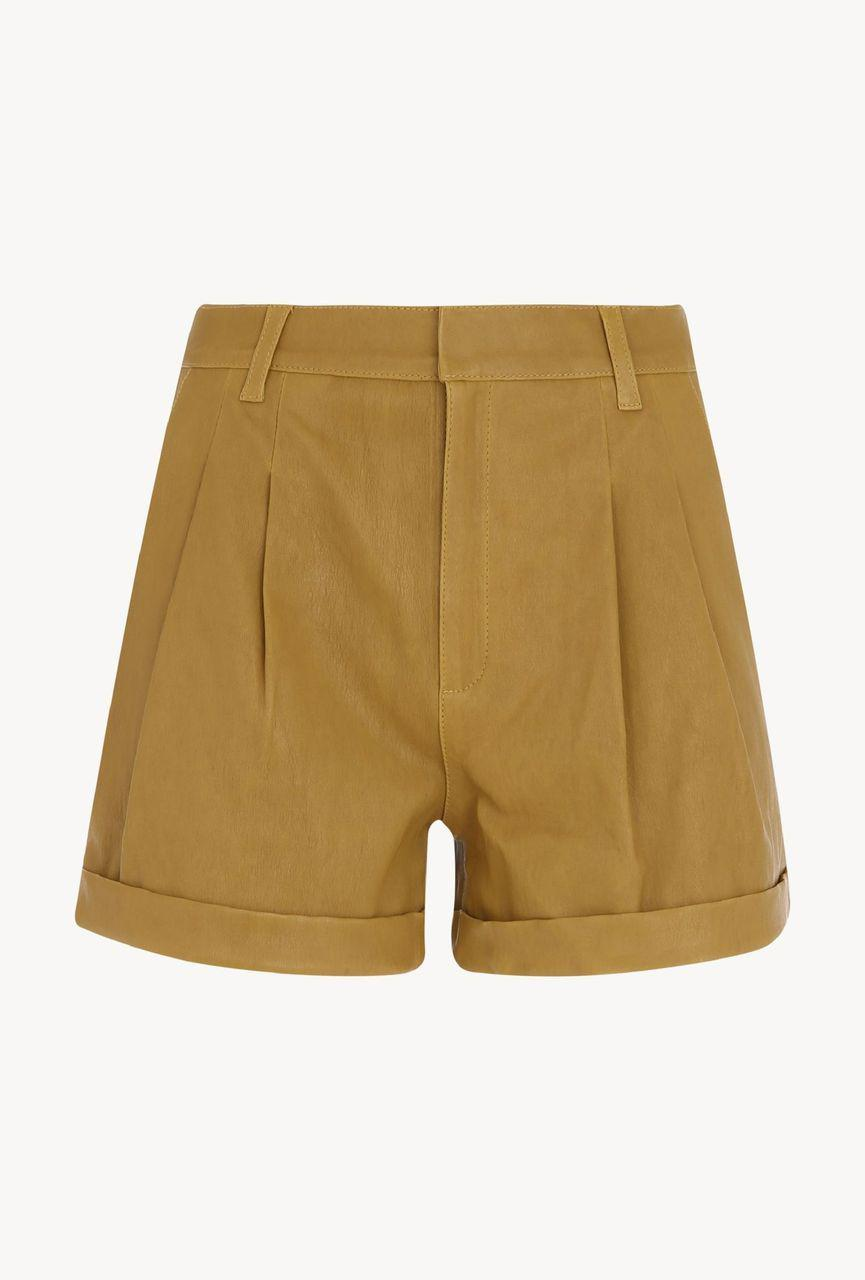 Moss Gold Leather Trouser Short