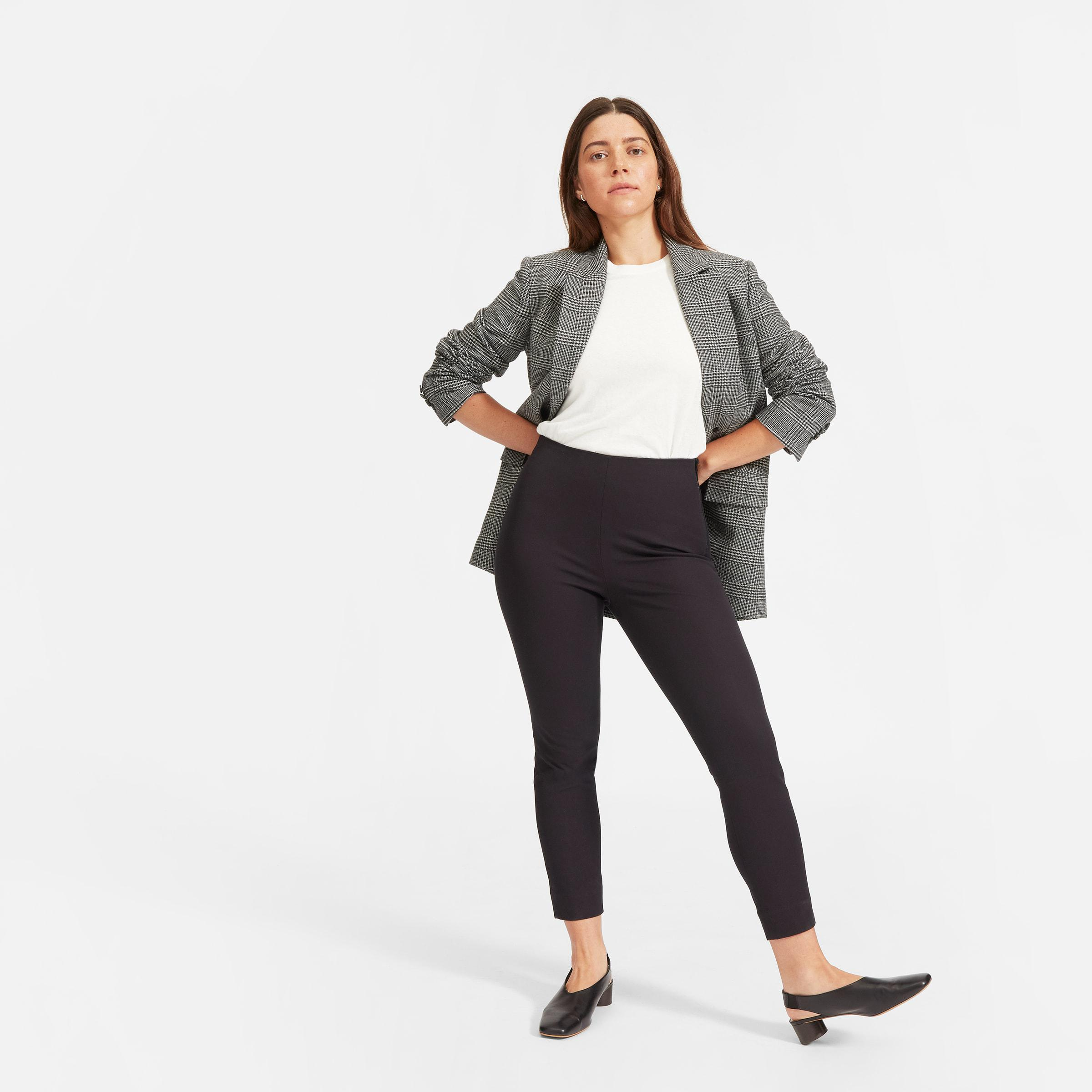 The Curvy Side-Zip Stretch Cotton Pant
