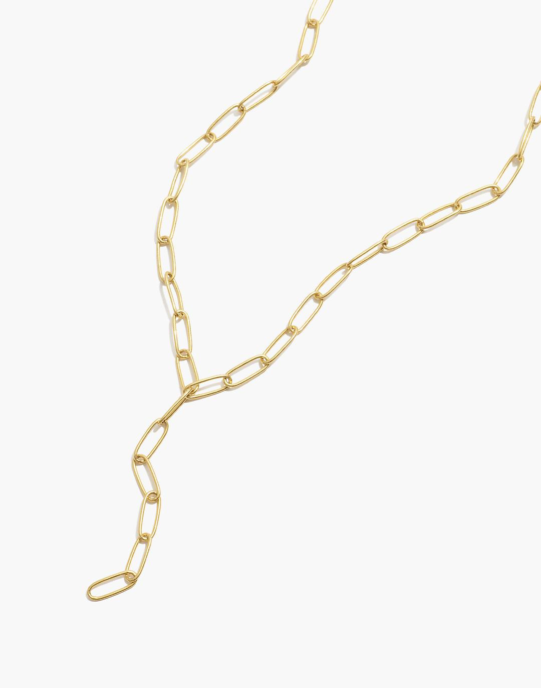 Paperclip Lariat Necklace