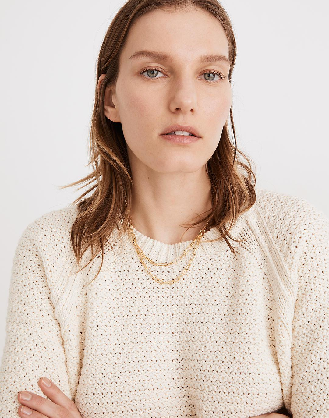Open-Stitch Hopedale Pullover Sweater 1