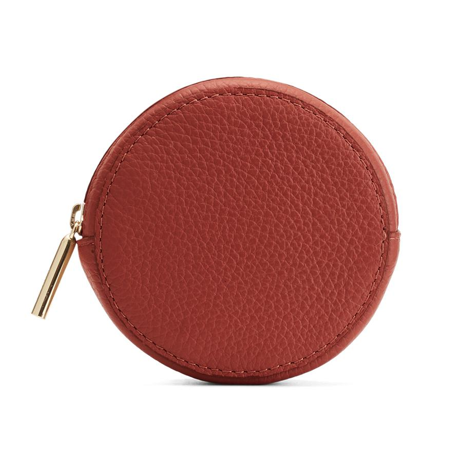 Women's Circle Pouch Add-On in Rust | Pebbled Leather by Cuyana