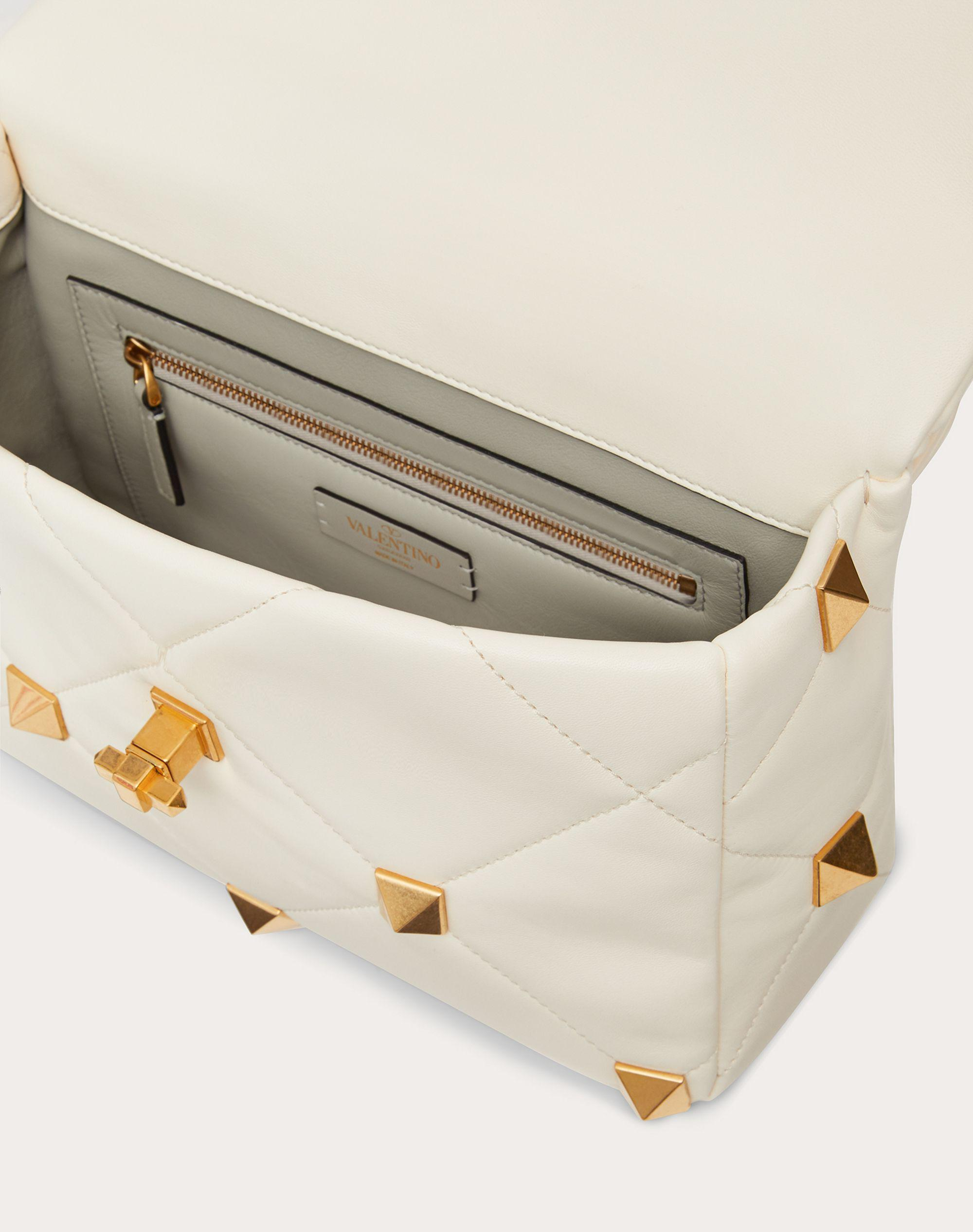 Large Roman Stud The Shoulder Bag in Nappa with Chain 3