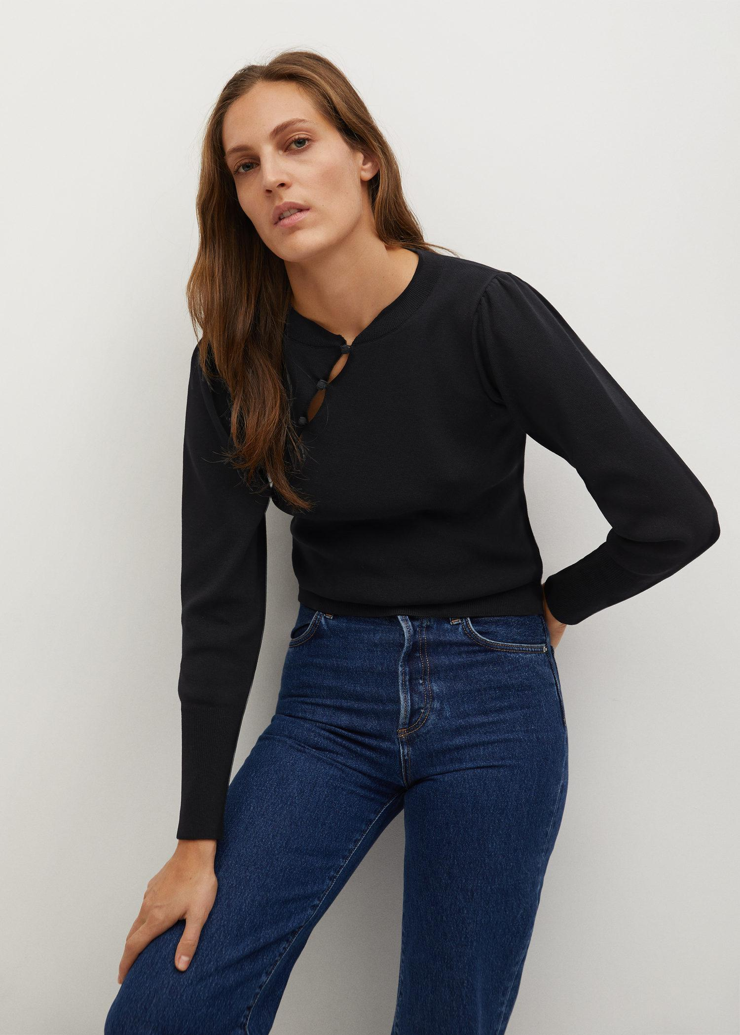 Sweater with side opening