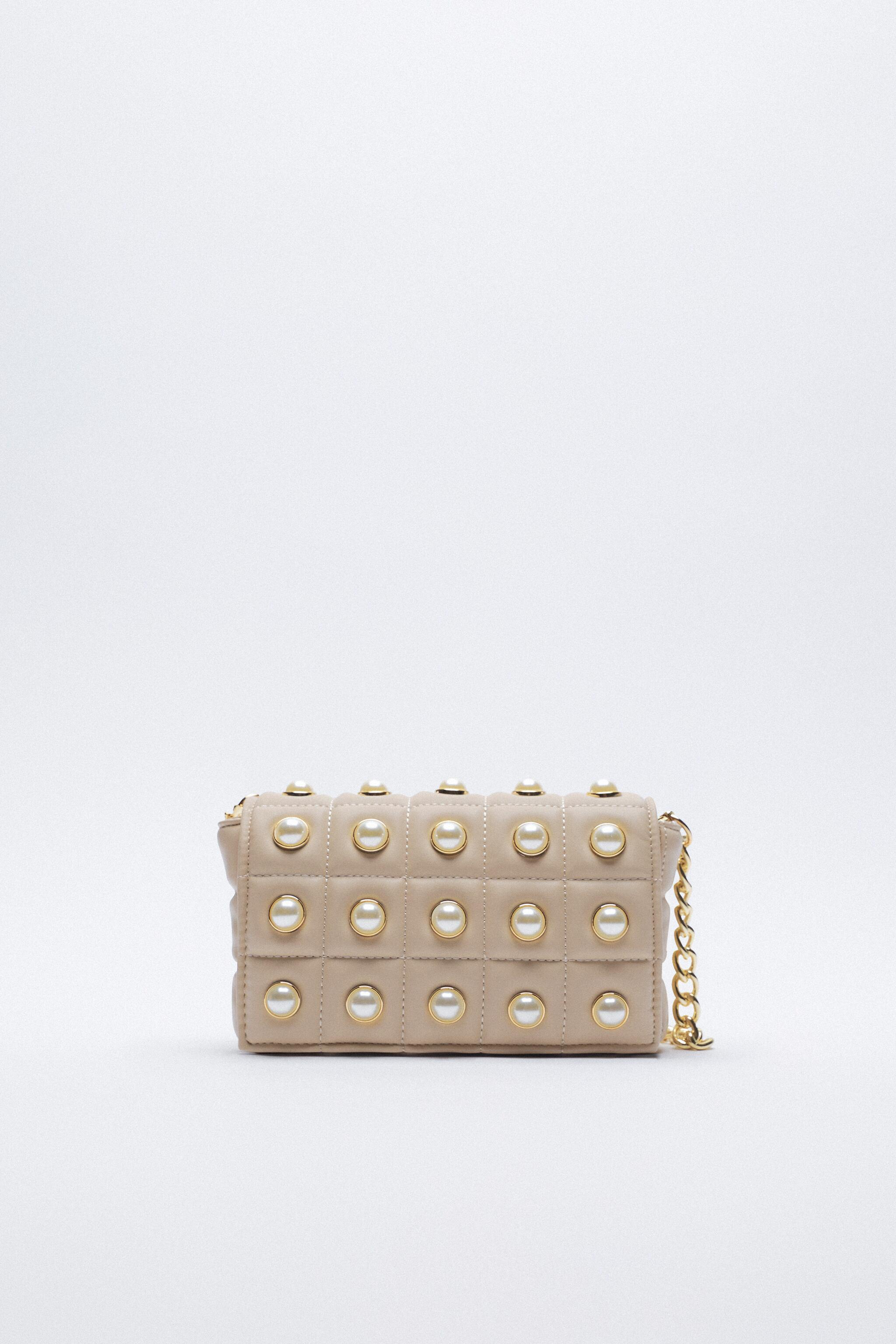 QUILTED PEARL CROSSBODY BAG