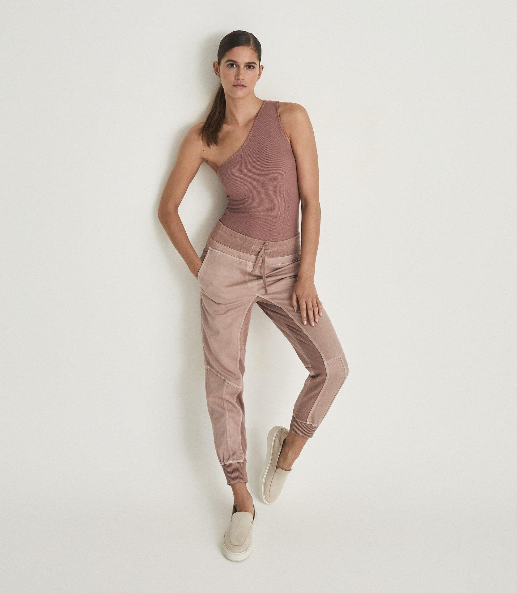 POLINA - ONE SHOULDER RIBBED JERSEY TOP
