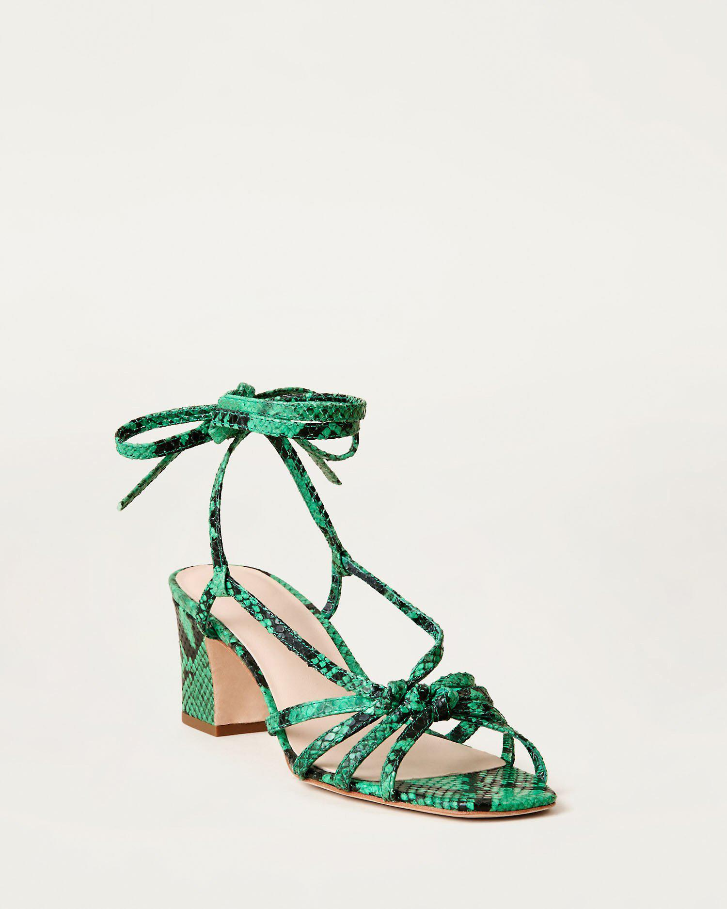 Libby Knotted Wrap Sandal Green