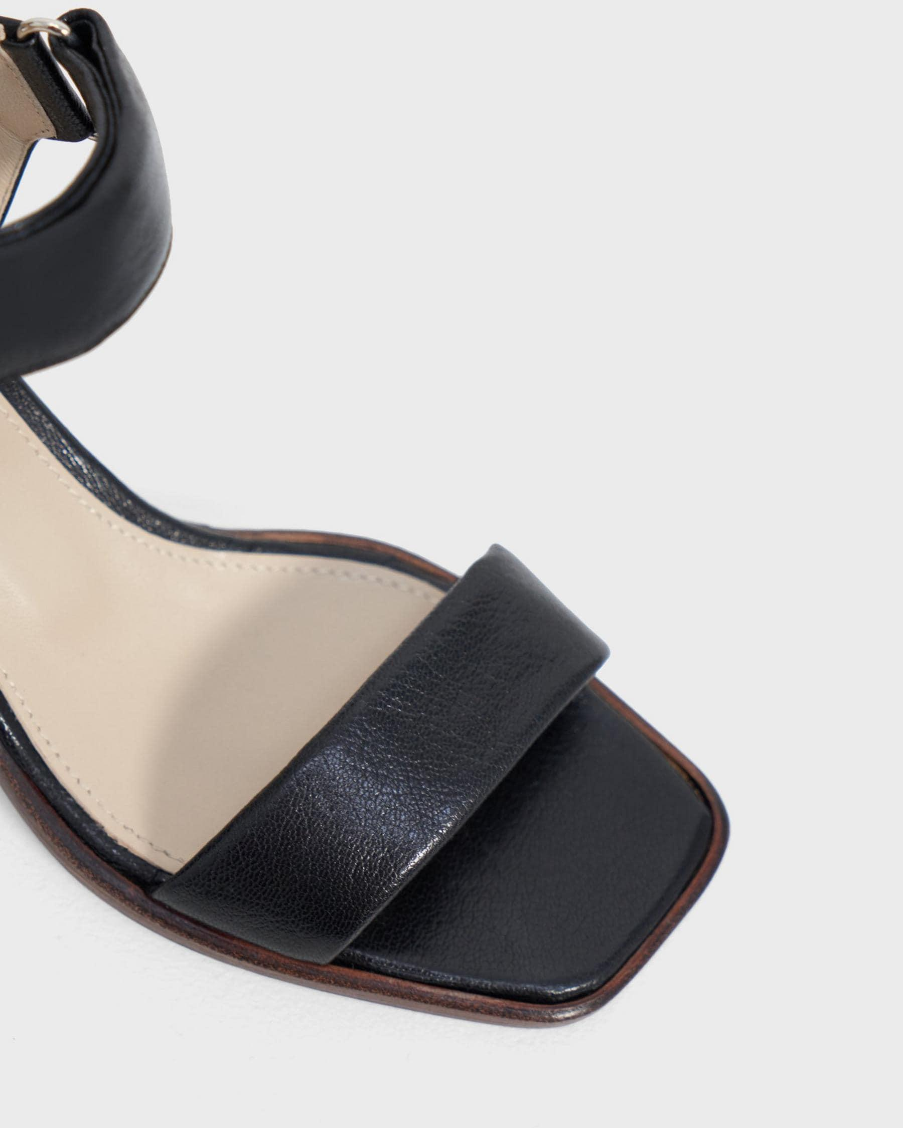 Mid-Ankle Strap Sandal in Leather 2
