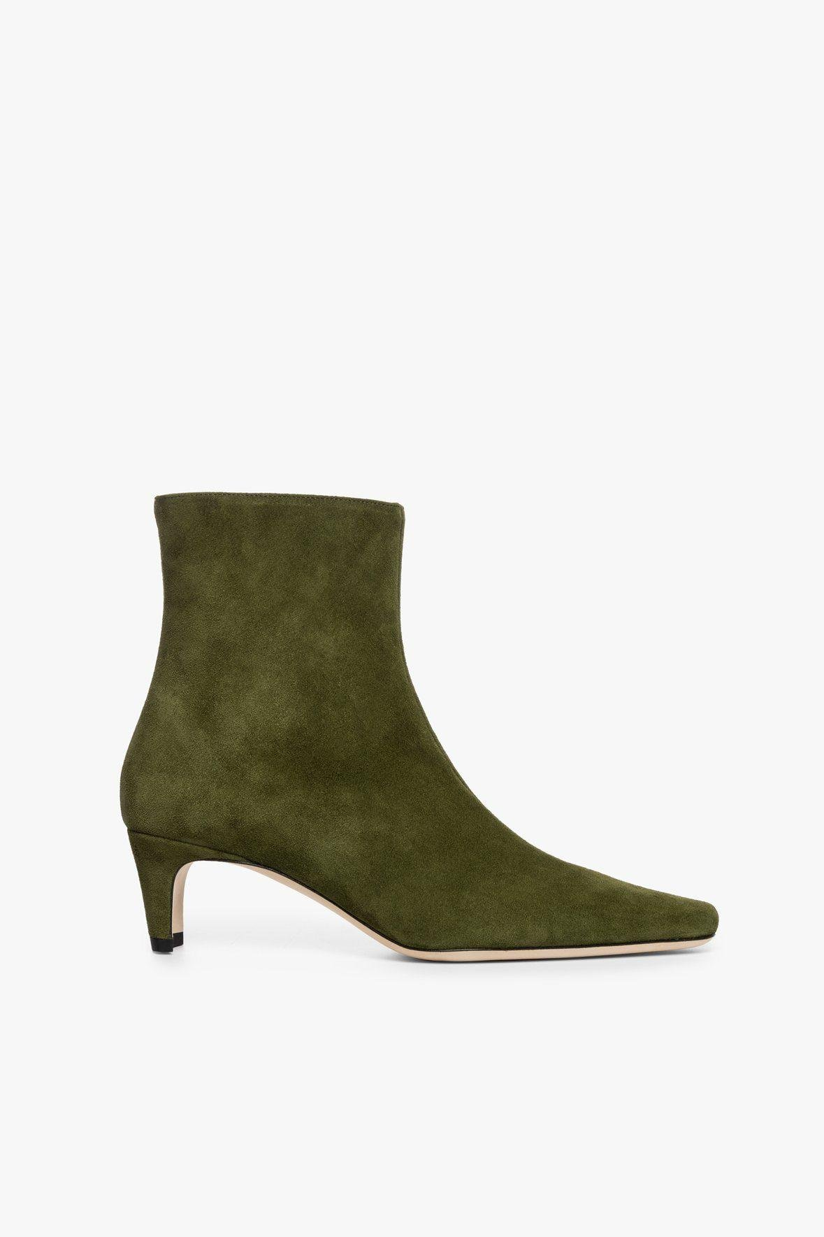 WALLY ANKLE BOOT | OLIVE SUEDE