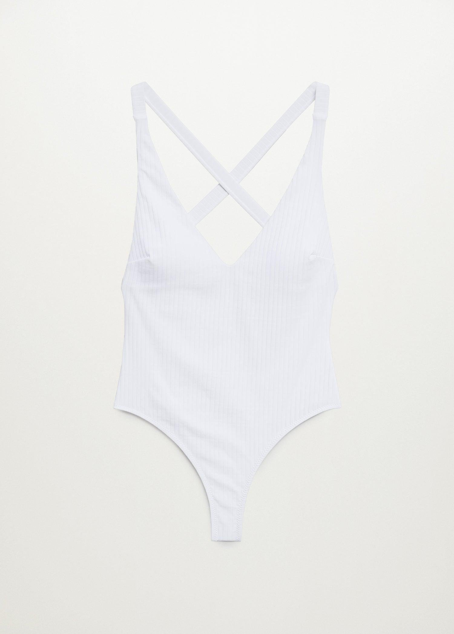 Crossover back swimsuit 8