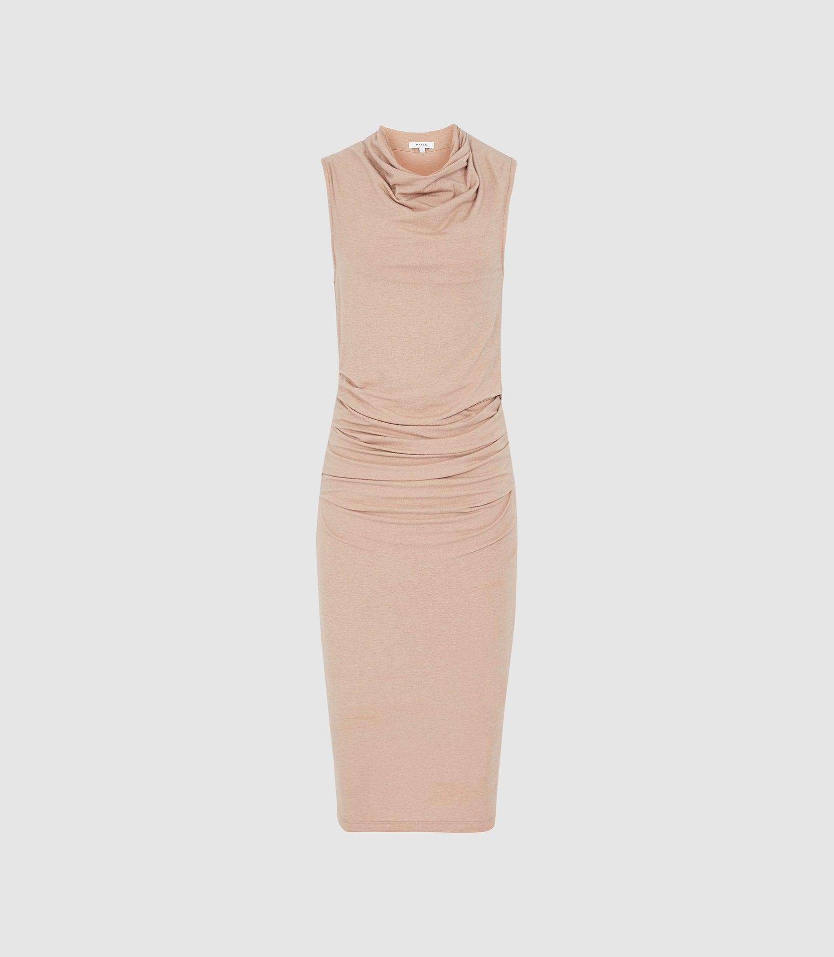 TORA - RUCHED WOOL-JERSEY BODYCON DRESS 5