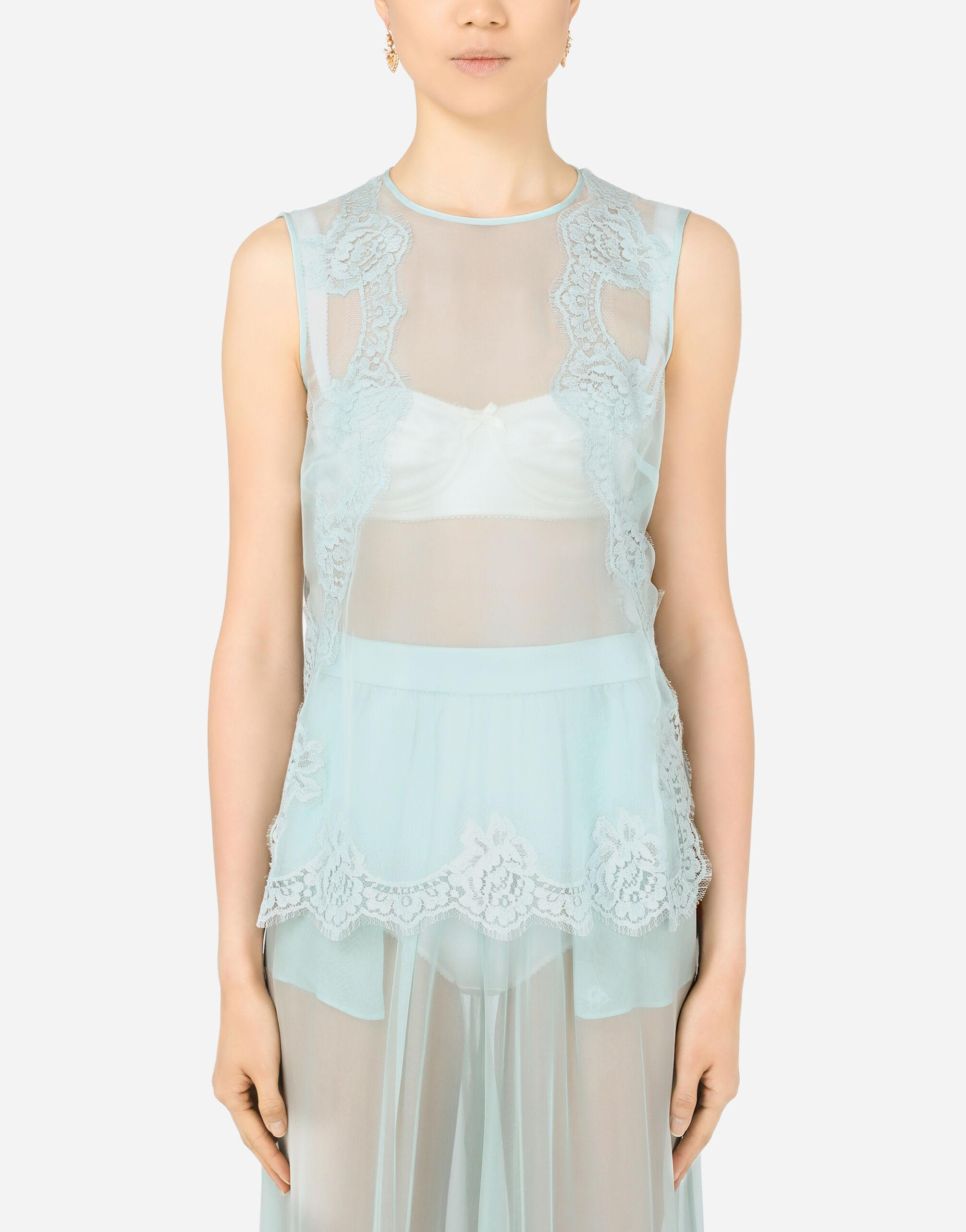 Chifffon top with lace