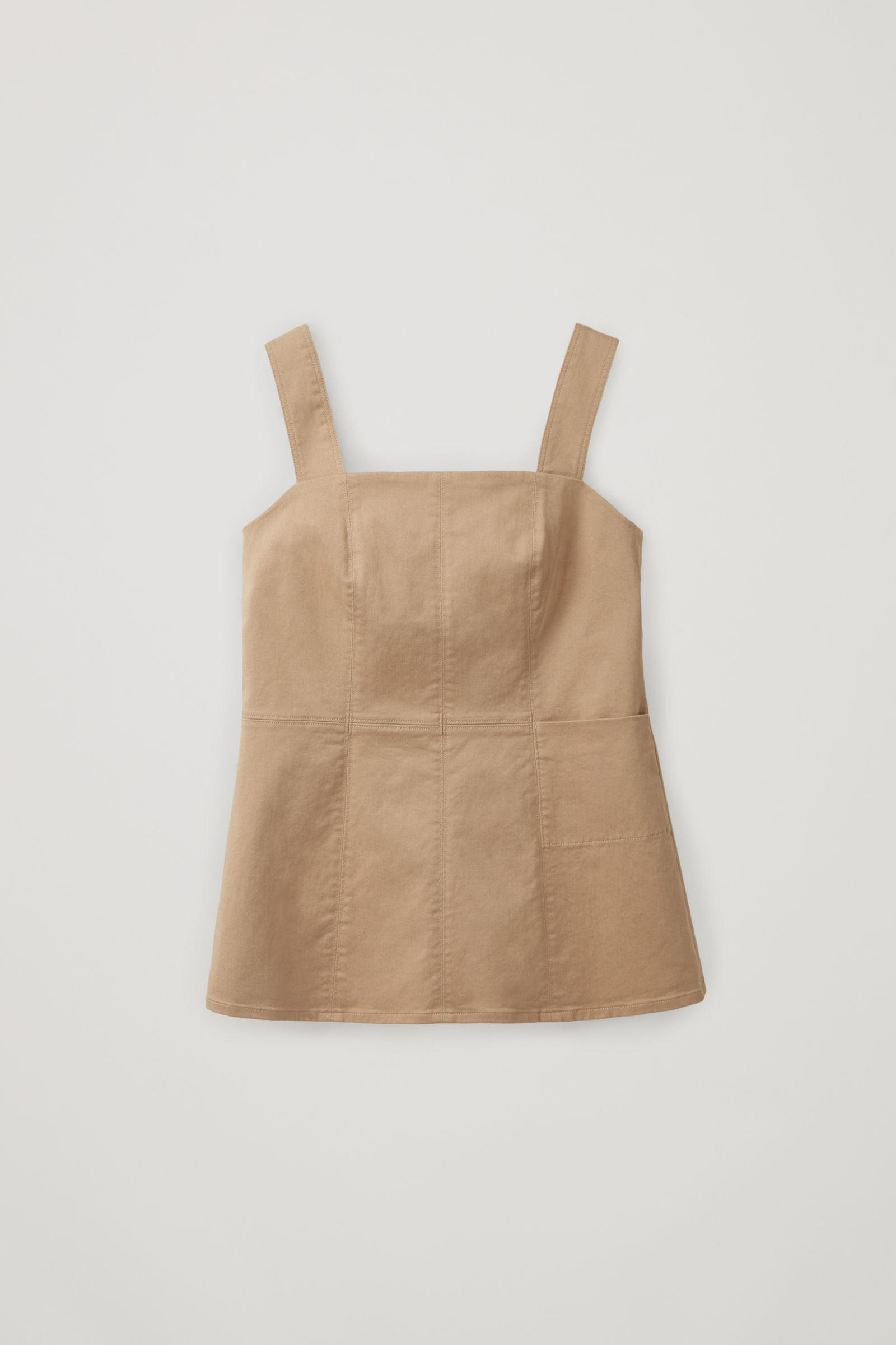 STRAP TOP WITH FLARED HEM