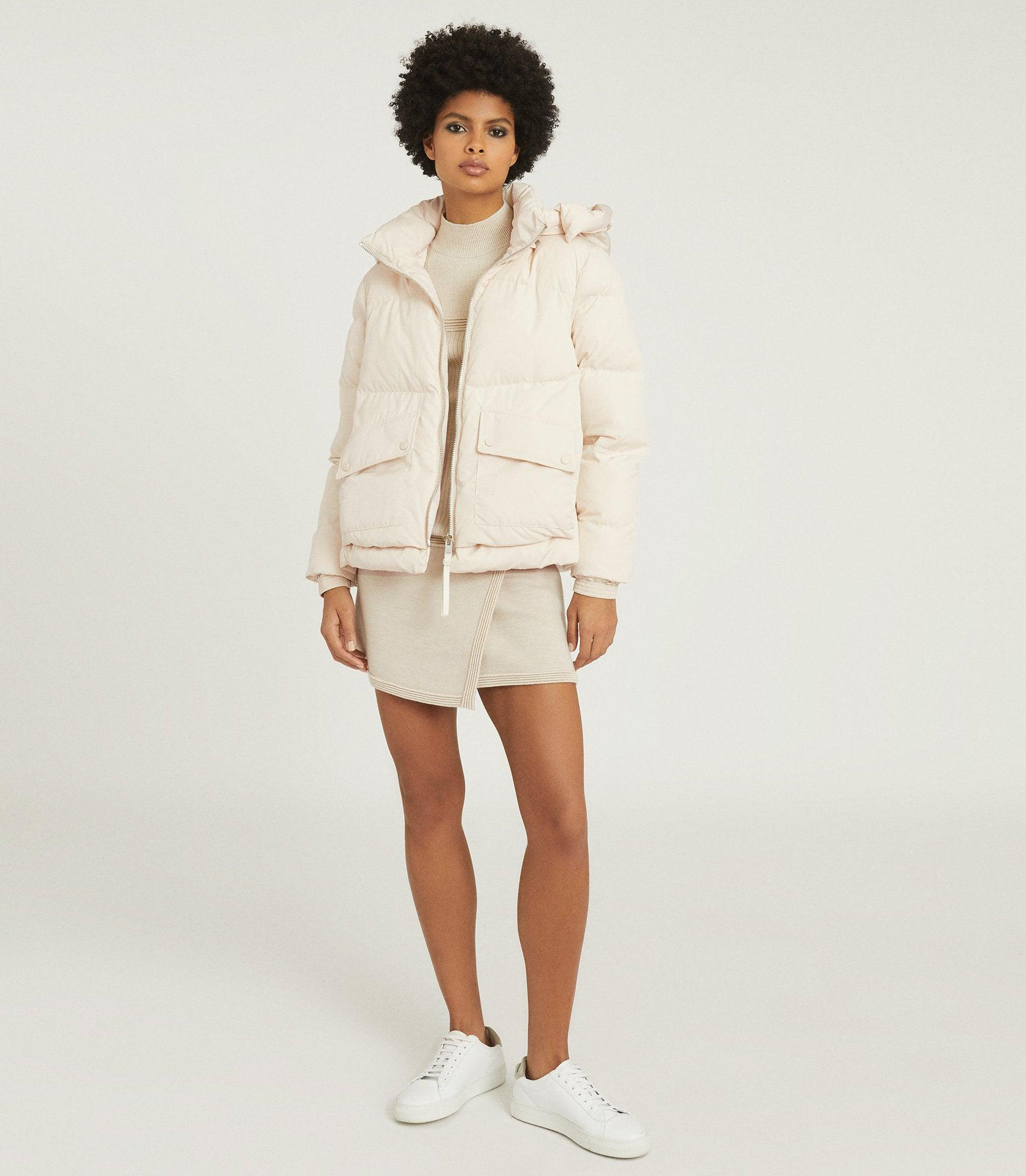 PAIGE - PUFFER JACKET WITH REMOVABLE HOOD
