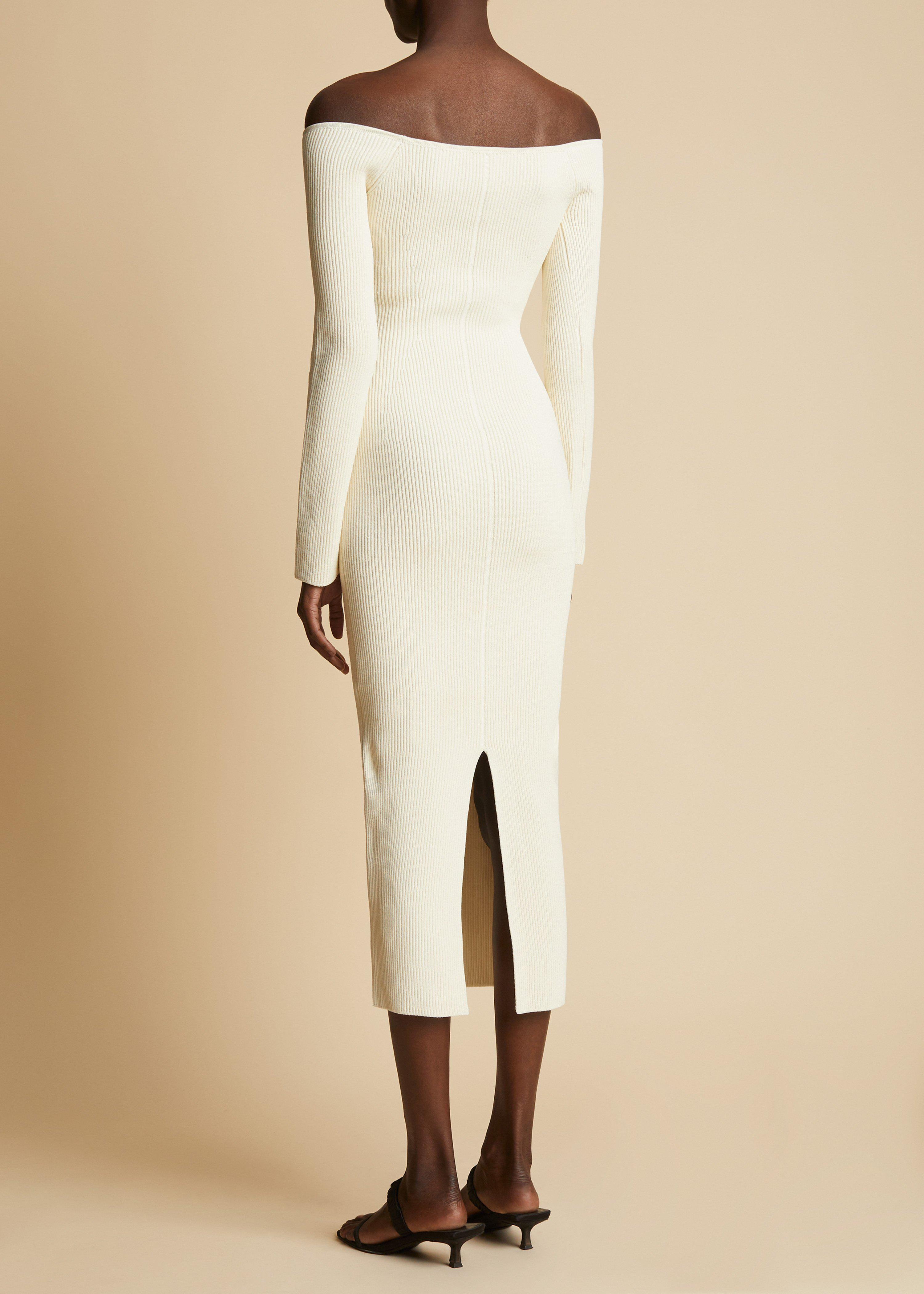 The Pia Dress in Ivory 2