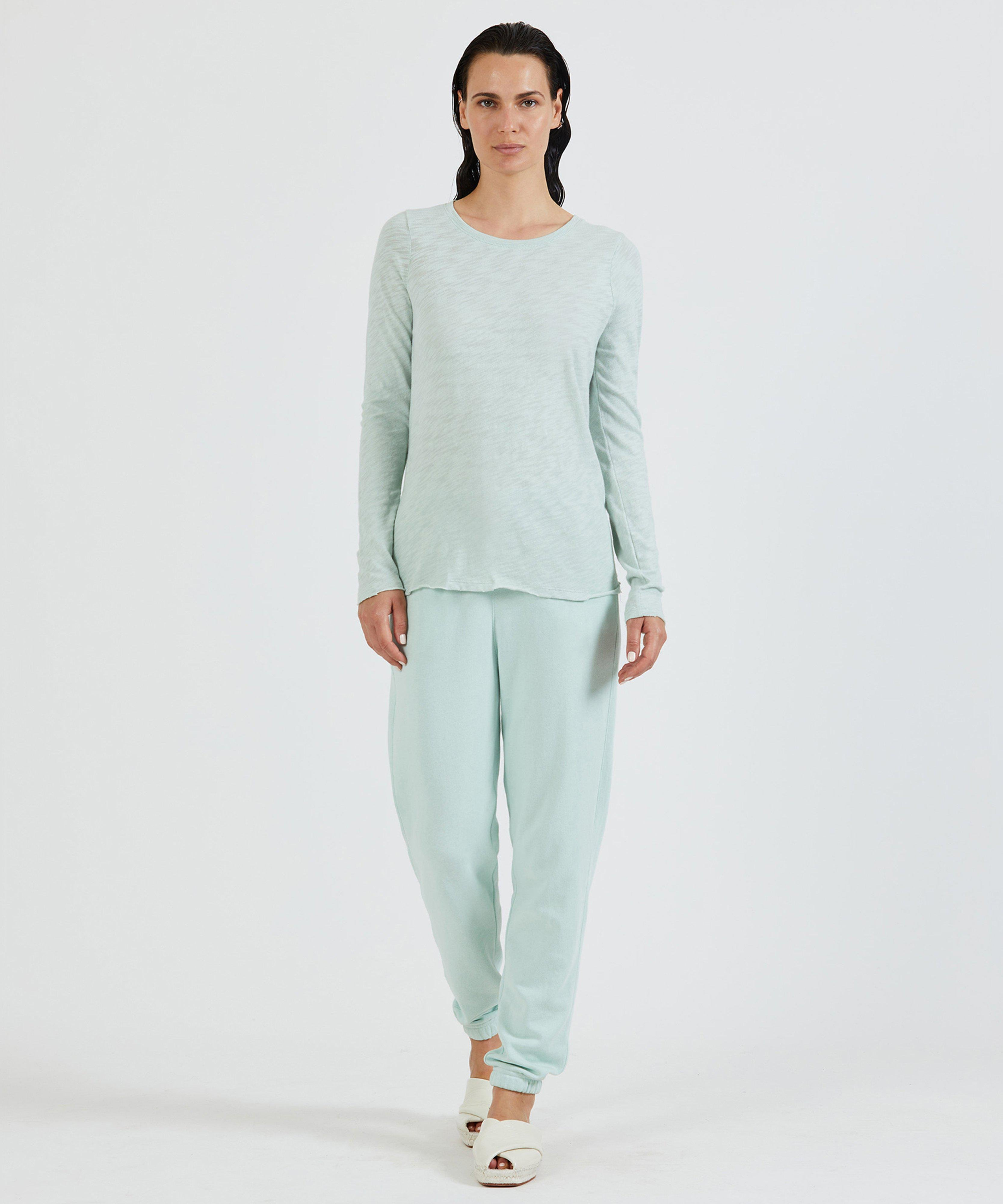 French Terry Pull-On Pant - Mint 3