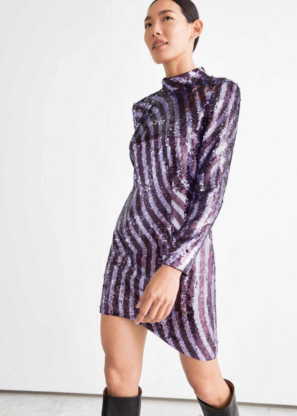 Fitted Sequin Mini Dress
