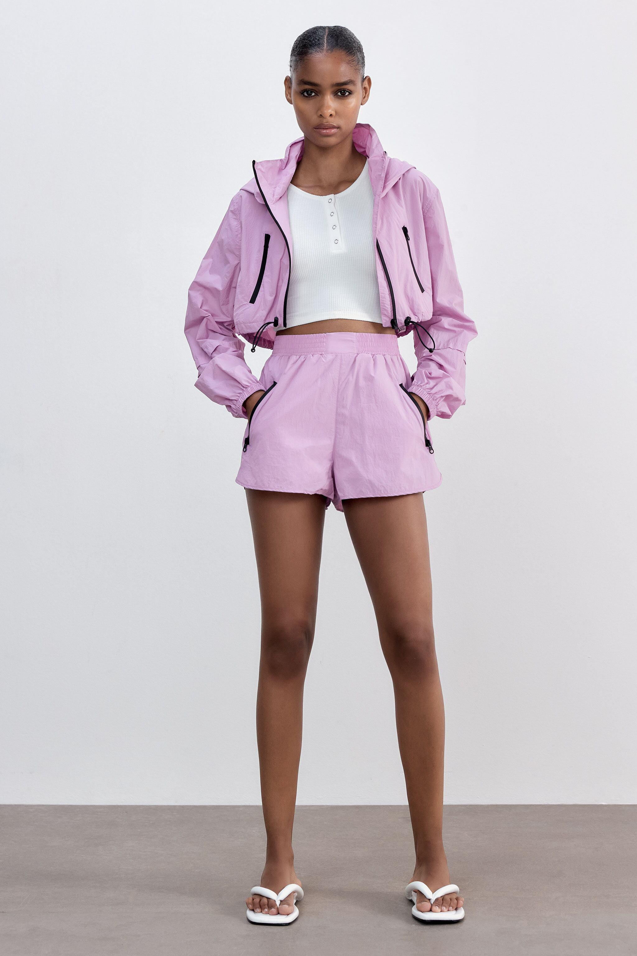 CROPPED RAINCOAT WITH ZIPPERS