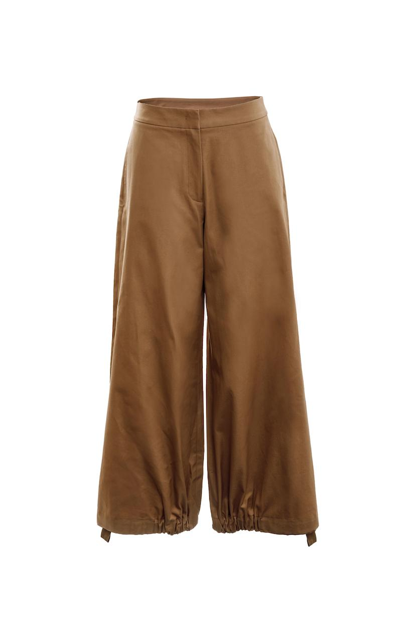 Drawcord Trousers (Camel) 2