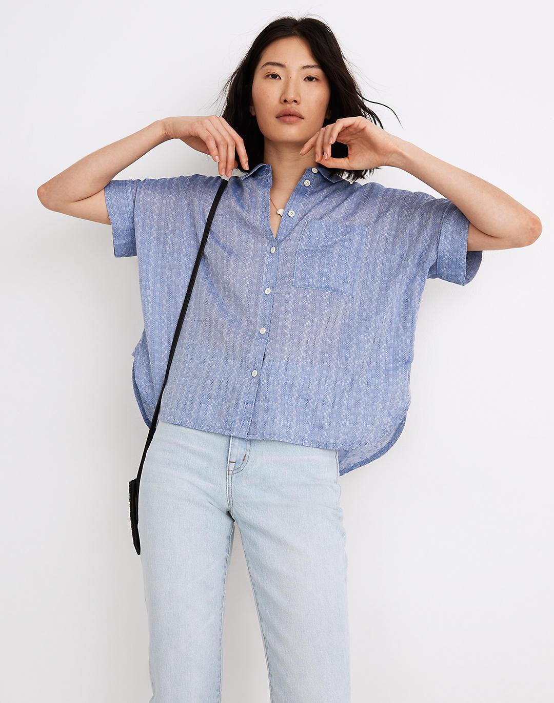 Daily Shirt in Textural Stripe