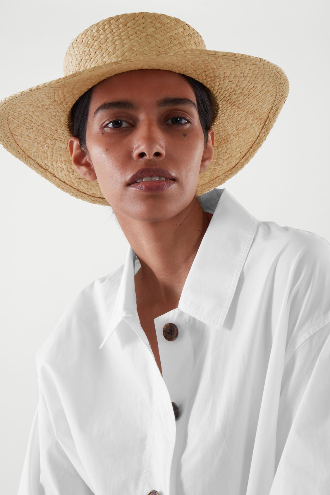 OVERSIZED STRAW BOATER HAT 3