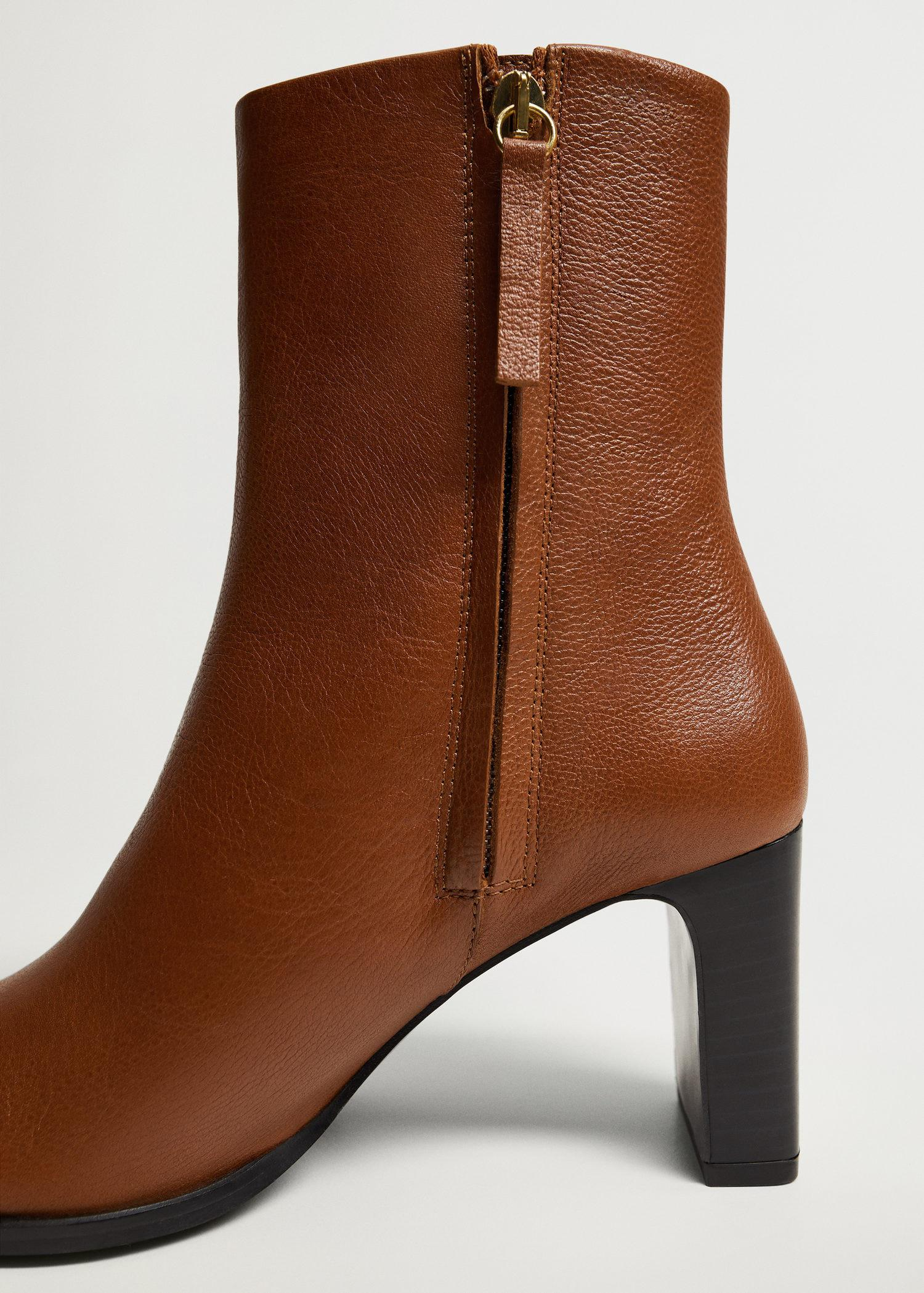 Heel leather ankle boot 3