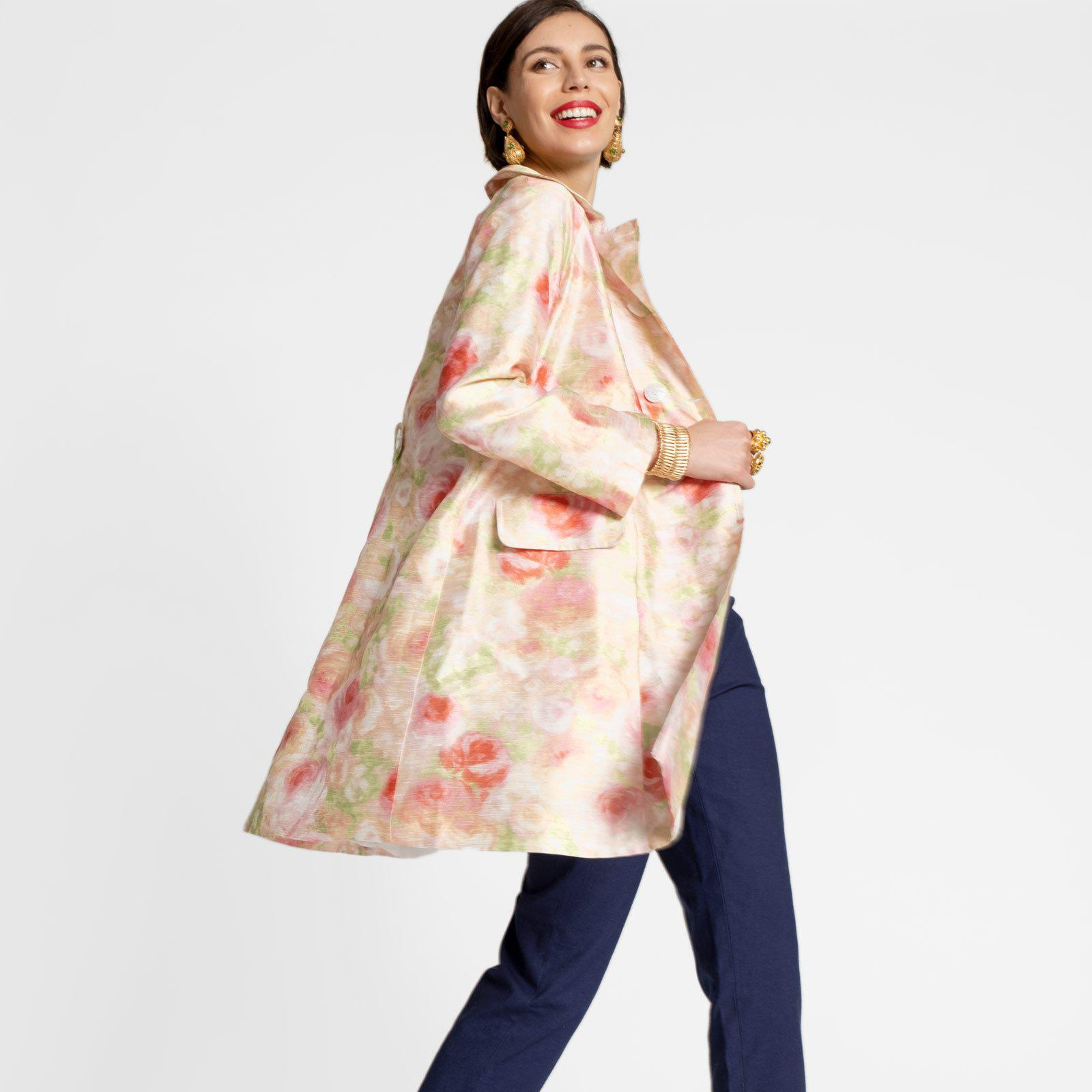 Camilla Floral Swing Trench 1