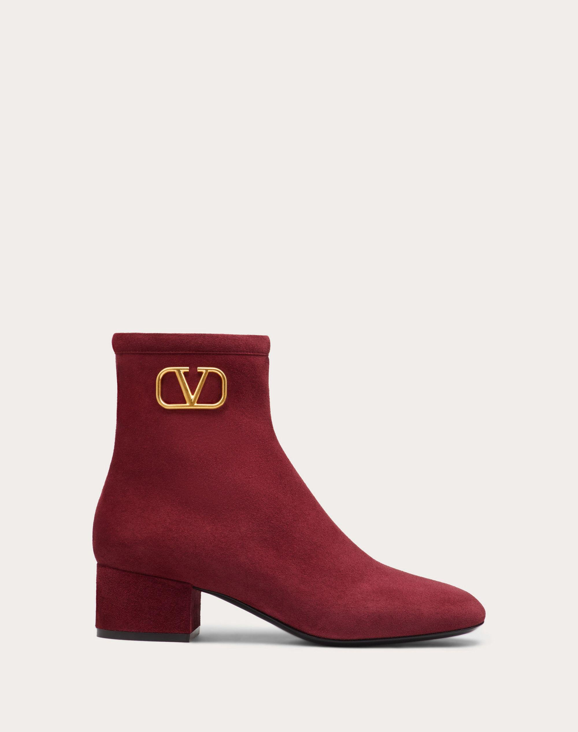 VLogo Signature Suede Ankle Boot 45 mm / 1.8 in.