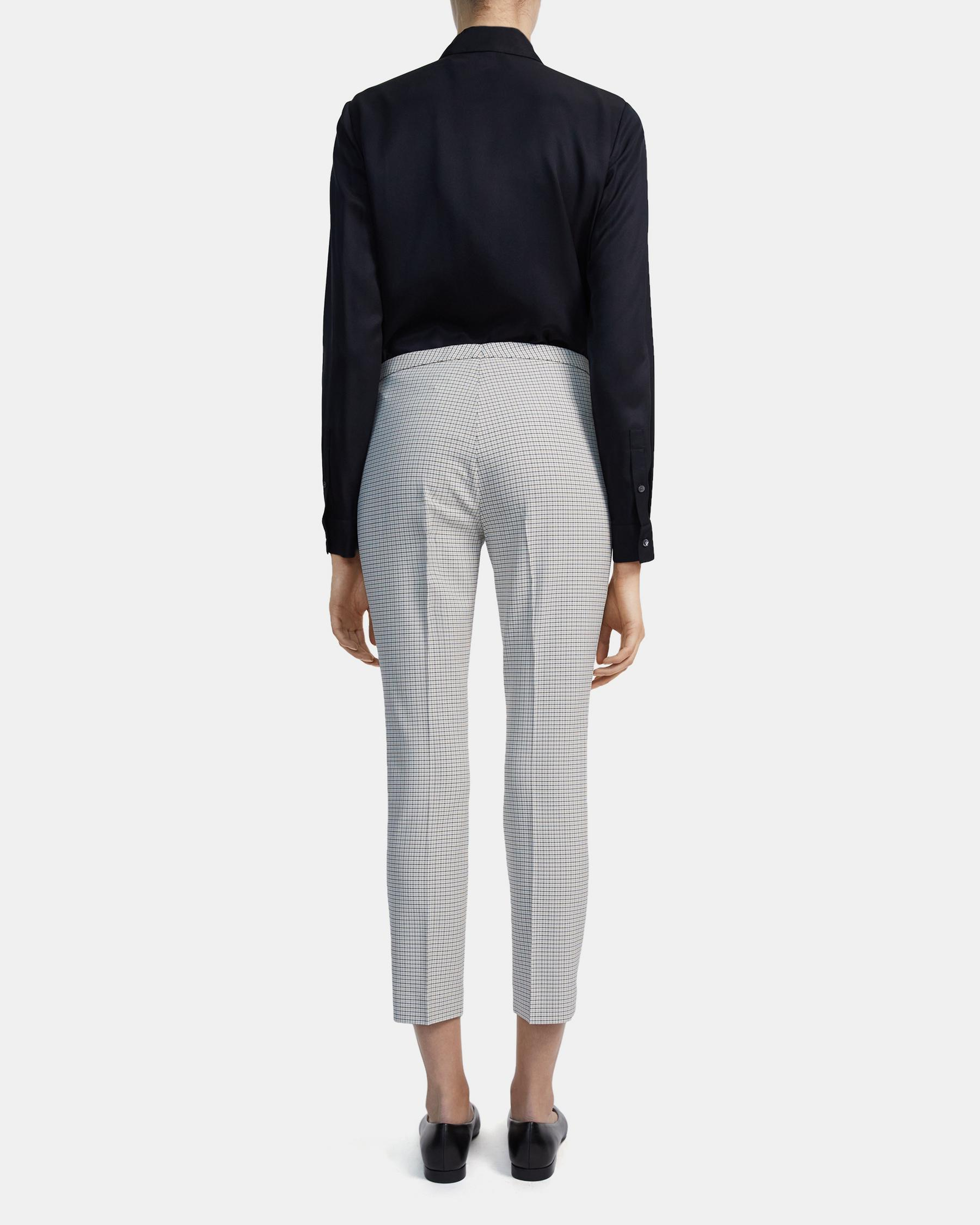 Skinny Pant in Check Stretch Viscose 2