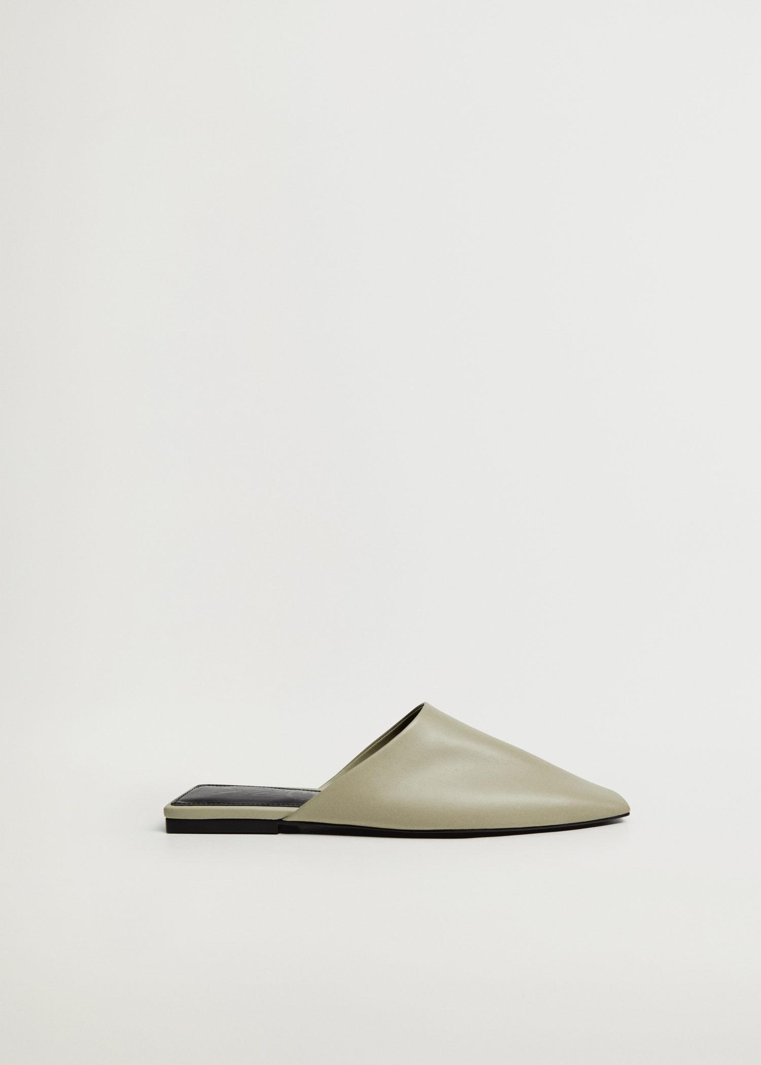sling back leather babouches