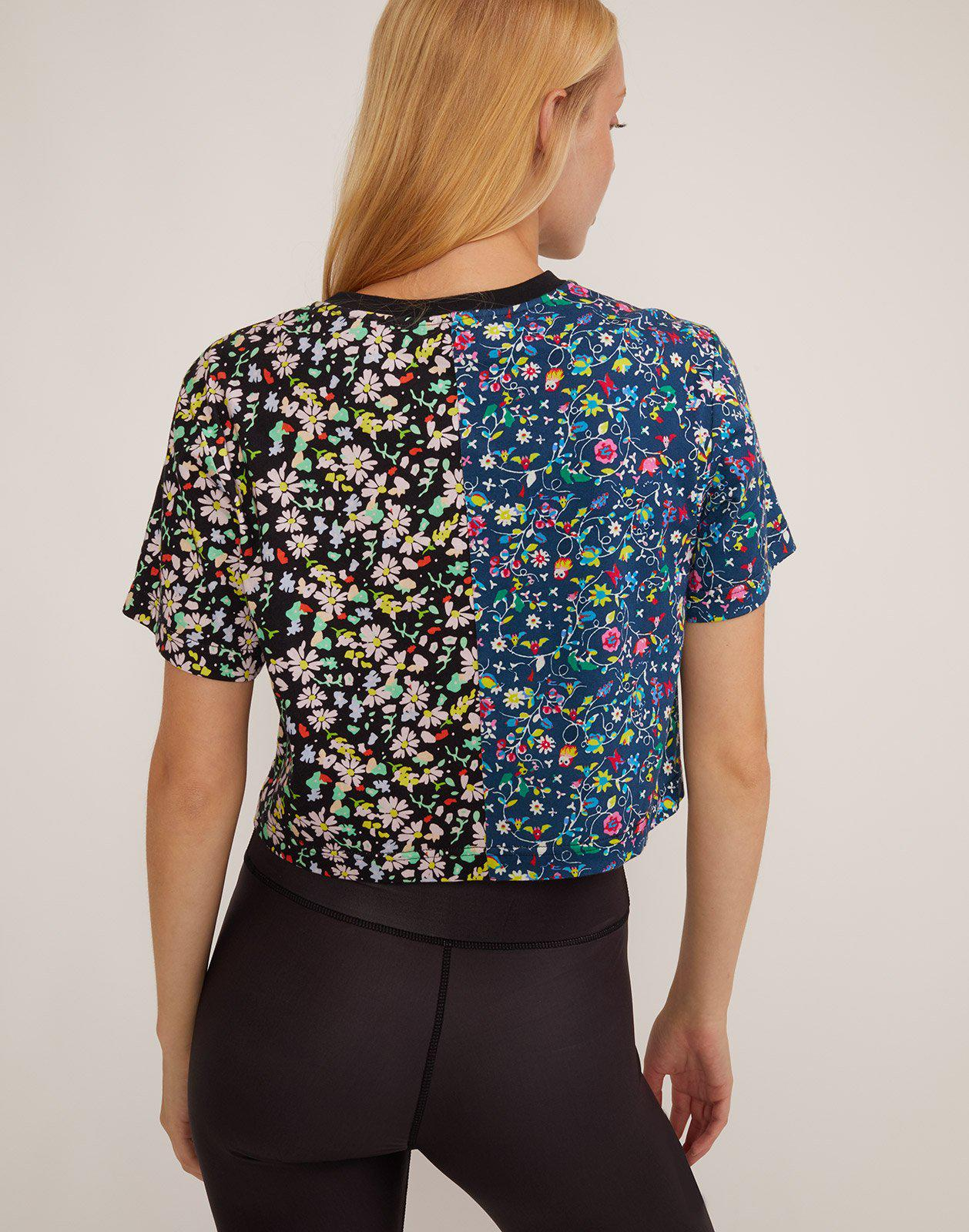 Embroidered Crop Print Tee 4