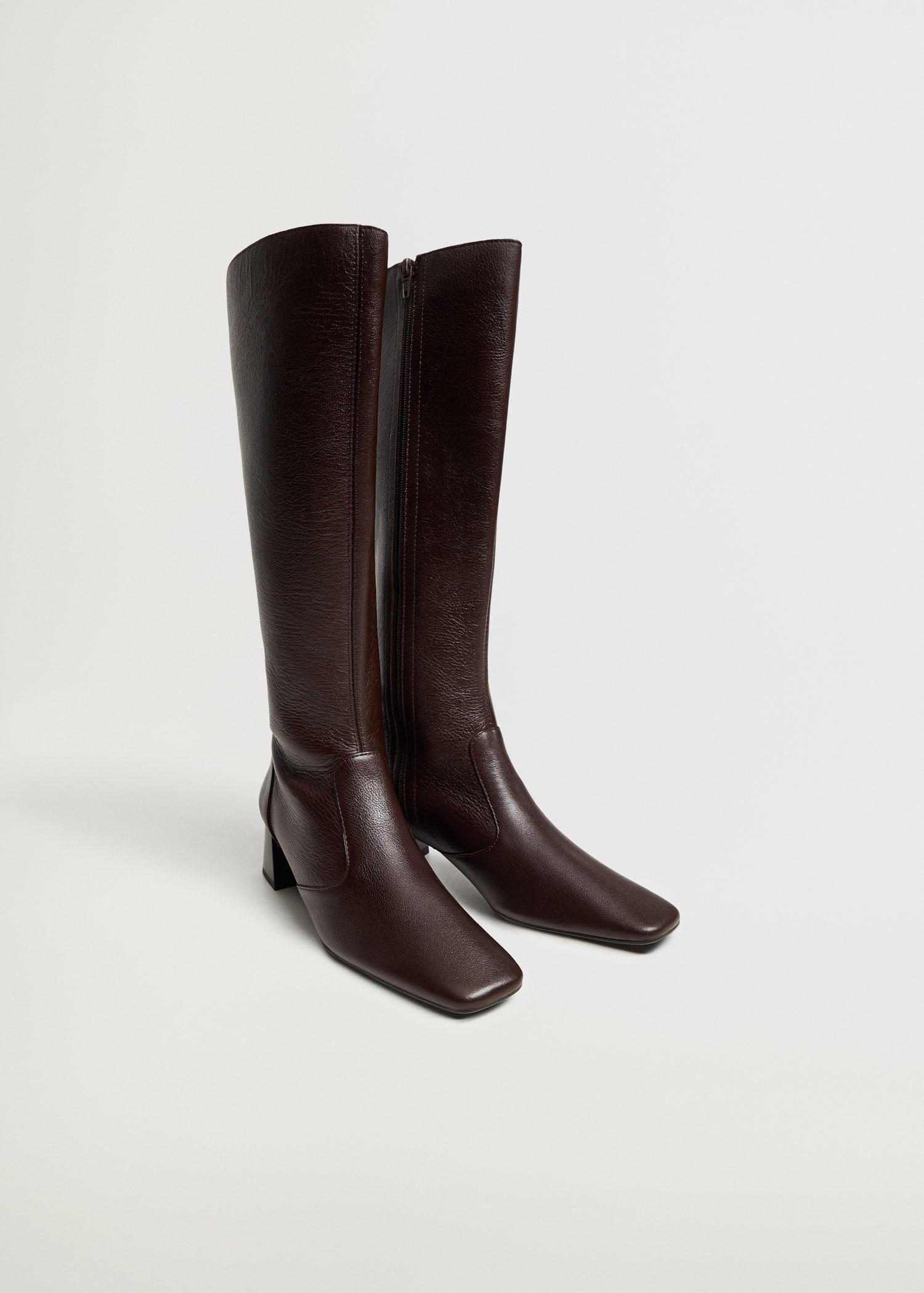 Leather boots with tall leg 1