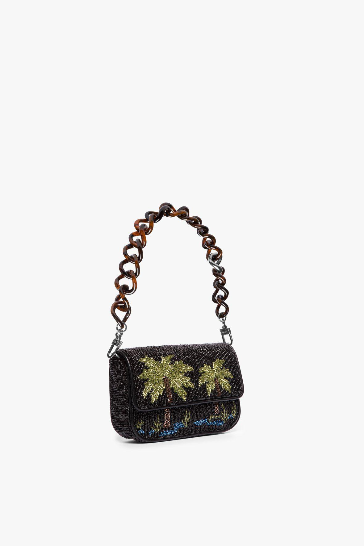 MINI TOMMY BEADED CHAIN BAG | PALM 4