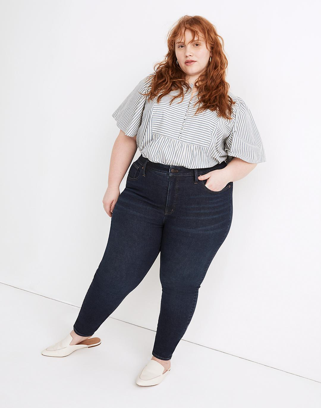 Plus Mid-Rise Skinny Jeans in Orland Wash: TENCEL™ Denim Edition