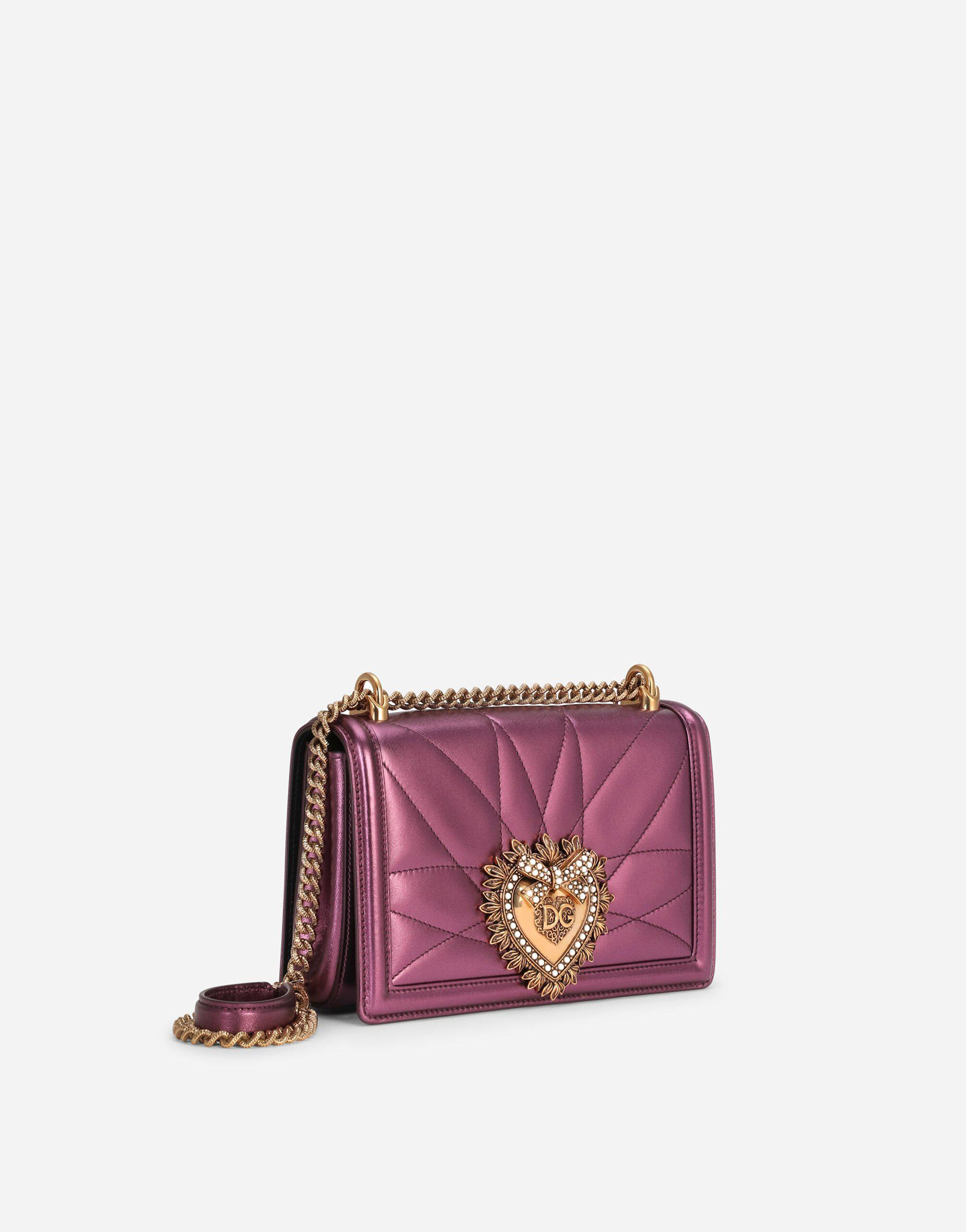Medium Devotion crossbody bag in quilted nappa mordore leather 1