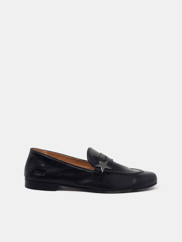 Virginia loafers in smooth black leather